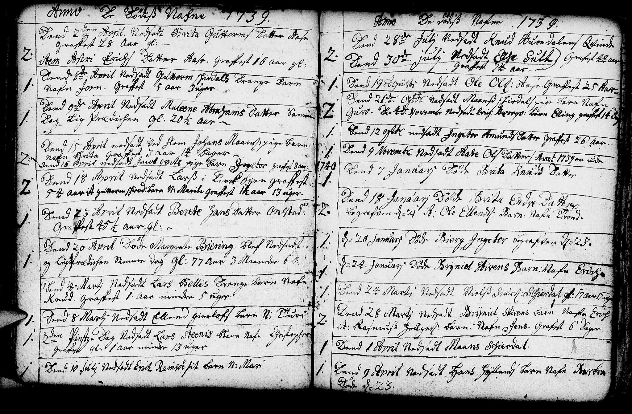 SAB, Aurland Sokneprestembete*, Ministerialbok nr. A 3, 1735-1761, s. 111