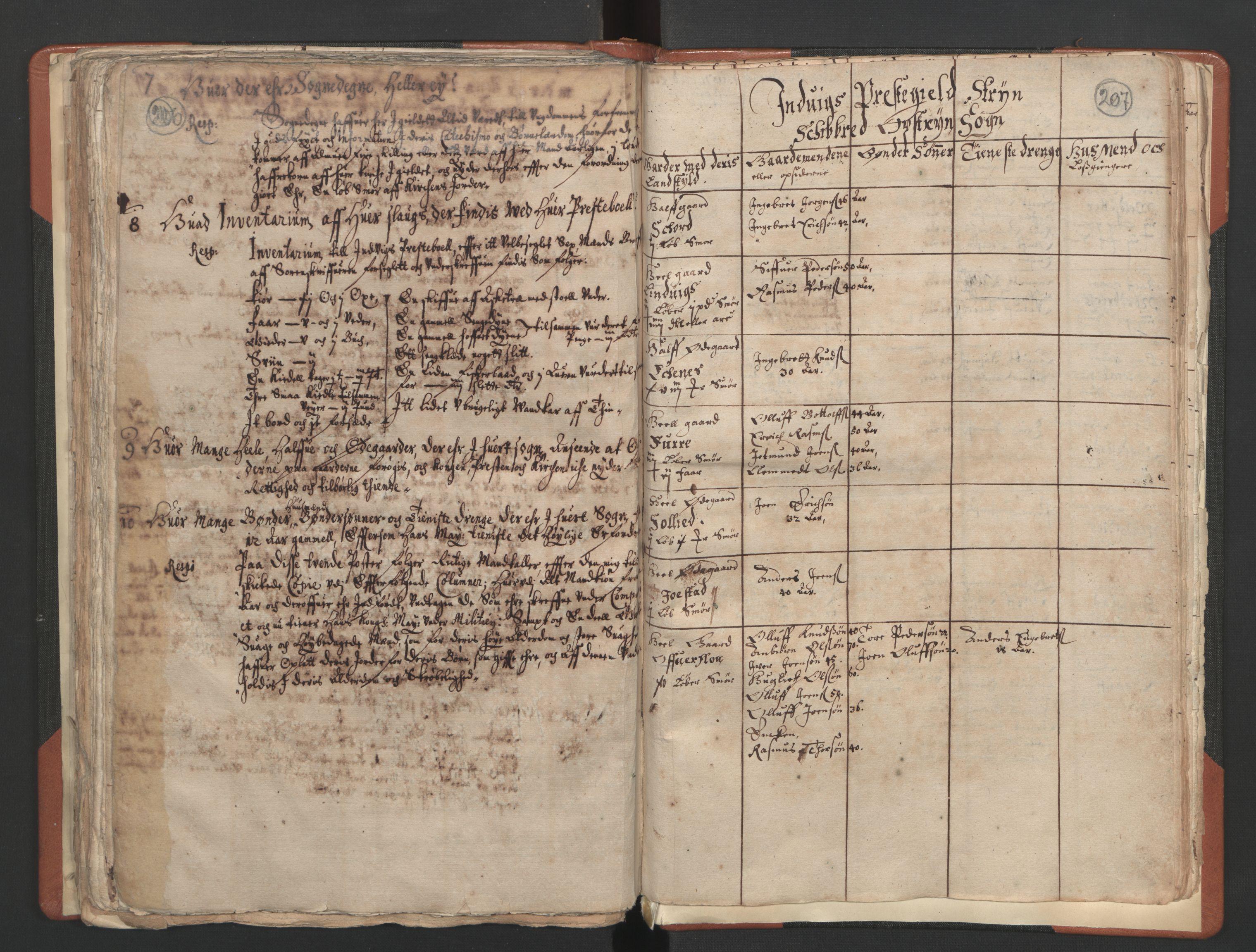 RA, Sogneprestenes manntall 1664-1666, nr. 25: Nordfjord prosti, 1664-1666, s. 206-207