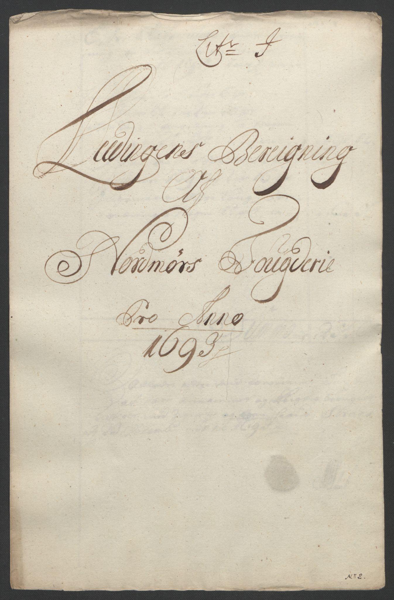 RA, Rentekammeret inntil 1814, Reviderte regnskaper, Fogderegnskap, R56/L3735: Fogderegnskap Nordmøre, 1692-1693, s. 369