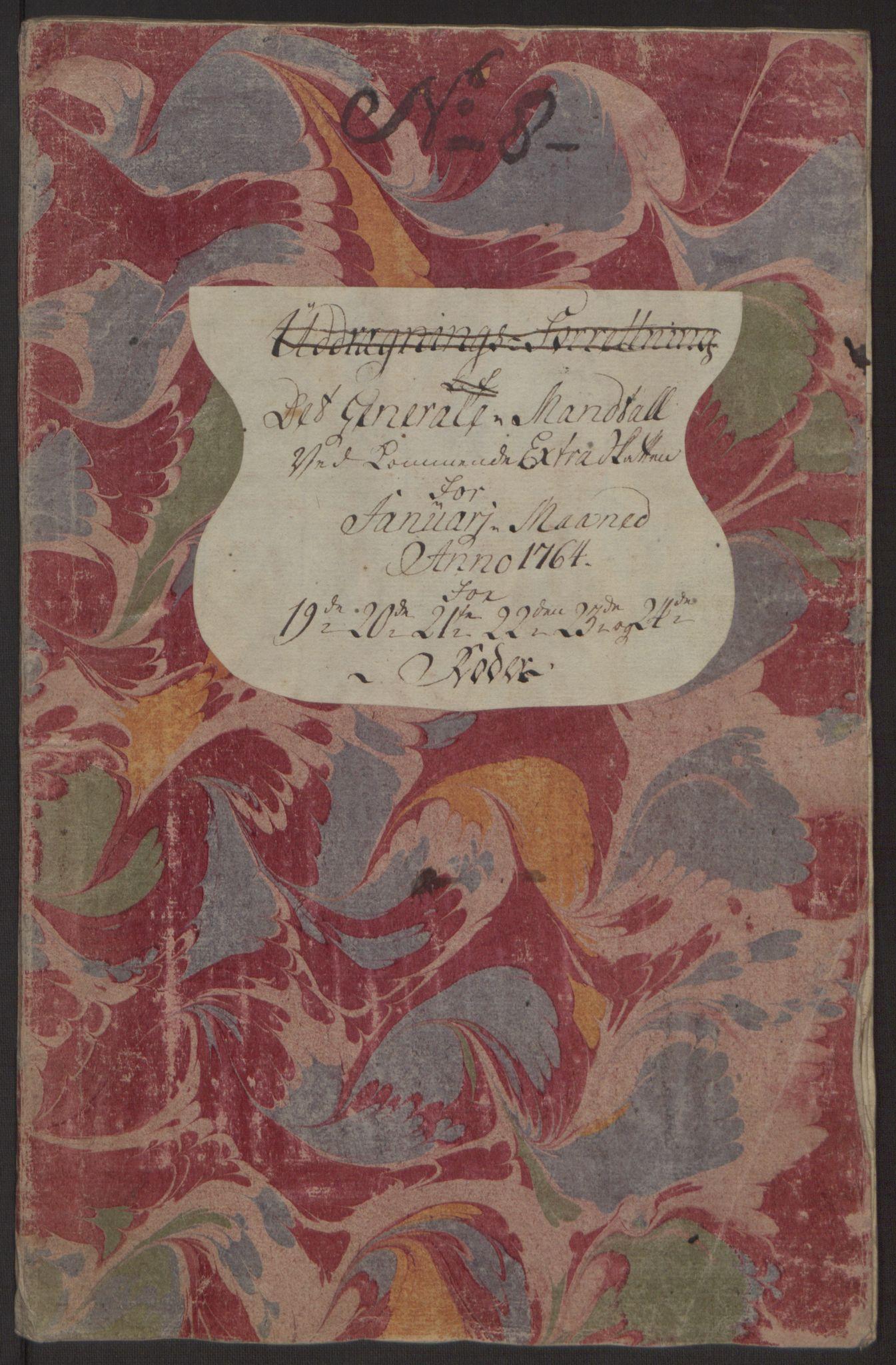 RA, Rentekammeret inntil 1814, Reviderte regnskaper, Byregnskaper, R/Rp/L0368: [P21] Kontribusjonsregnskap, 1764, s. 161