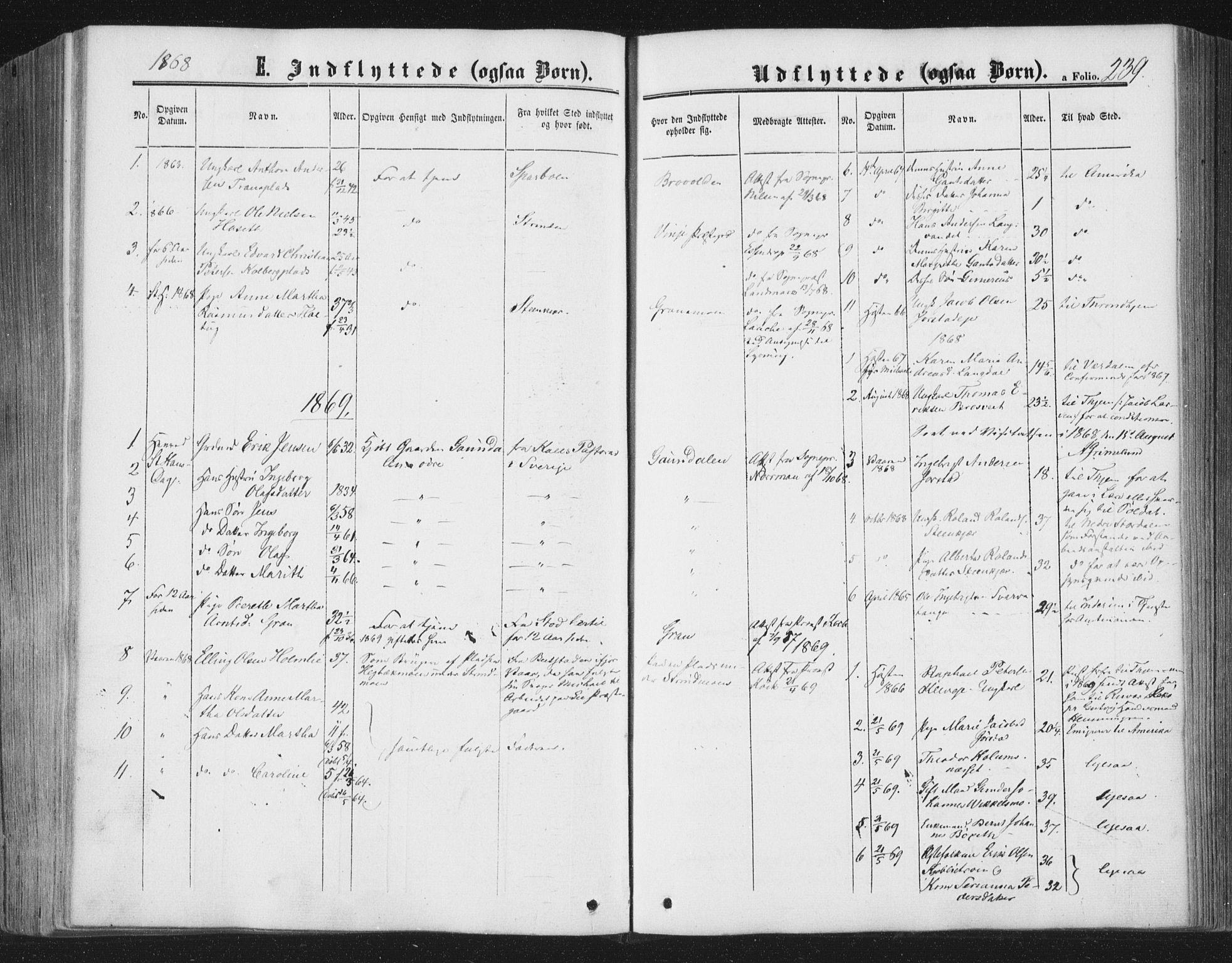 SAT, Ministerialprotokoller, klokkerbøker og fødselsregistre - Nord-Trøndelag, 749/L0472: Ministerialbok nr. 749A06, 1857-1873, s. 239