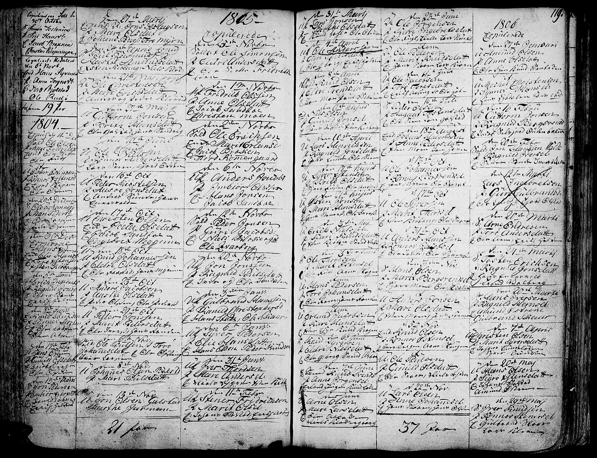 SAH, Vågå prestekontor, Ministerialbok nr. 1, 1739-1810, s. 119