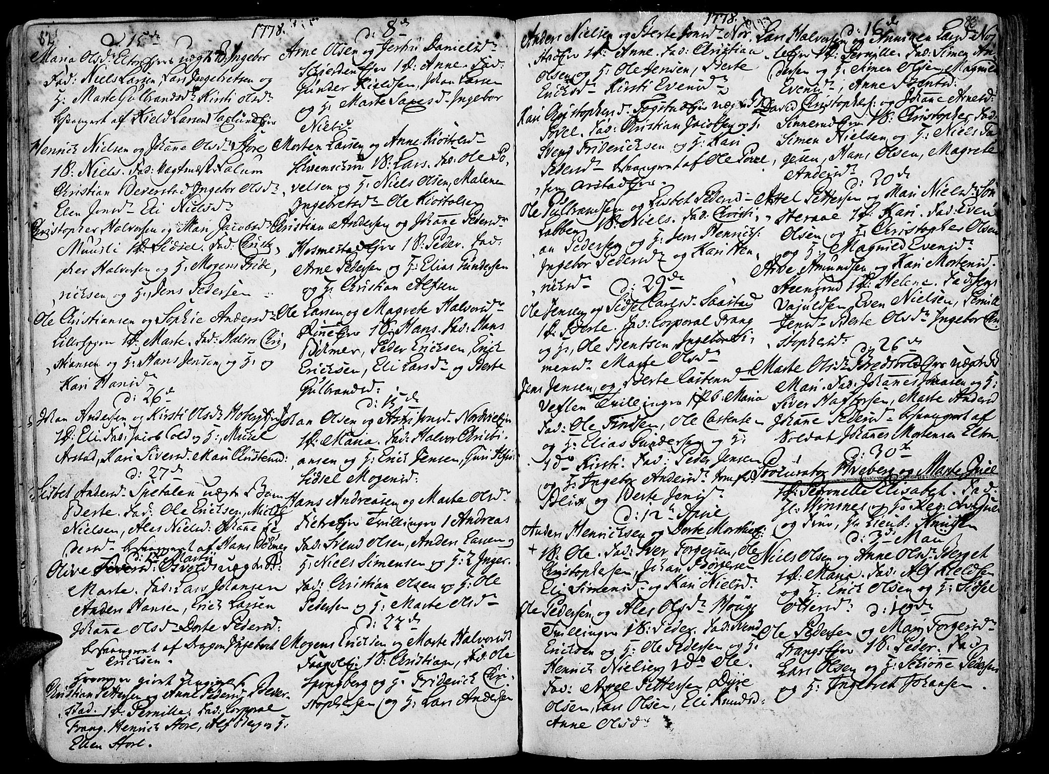 SAH, Stange prestekontor, K/L0006: Ministerialbok nr. 6, 1762-1787, s. 82-83