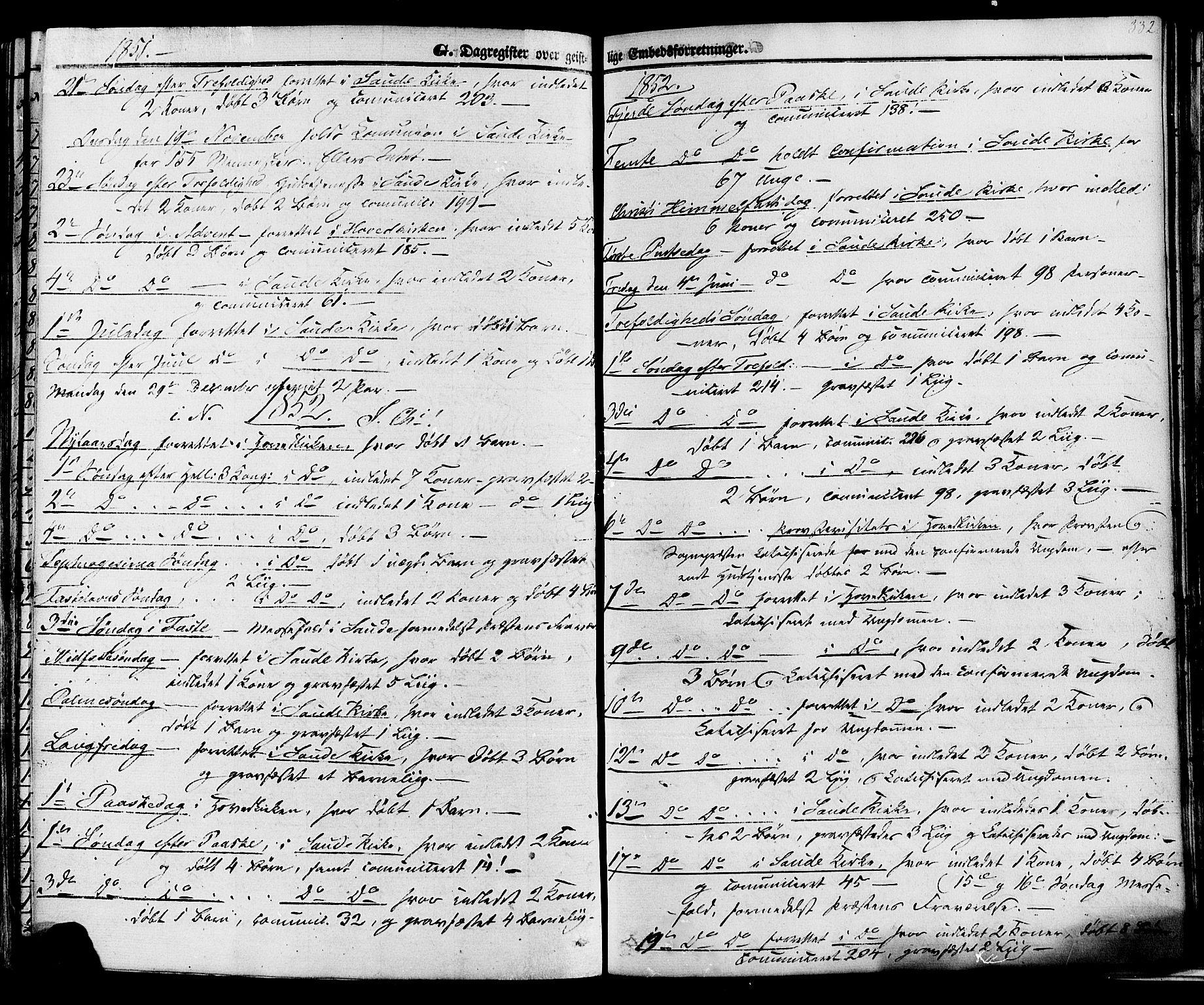SAKO, Sauherad kirkebøker, F/Fa/L0007: Ministerialbok nr. I 7, 1851-1873, s. 332
