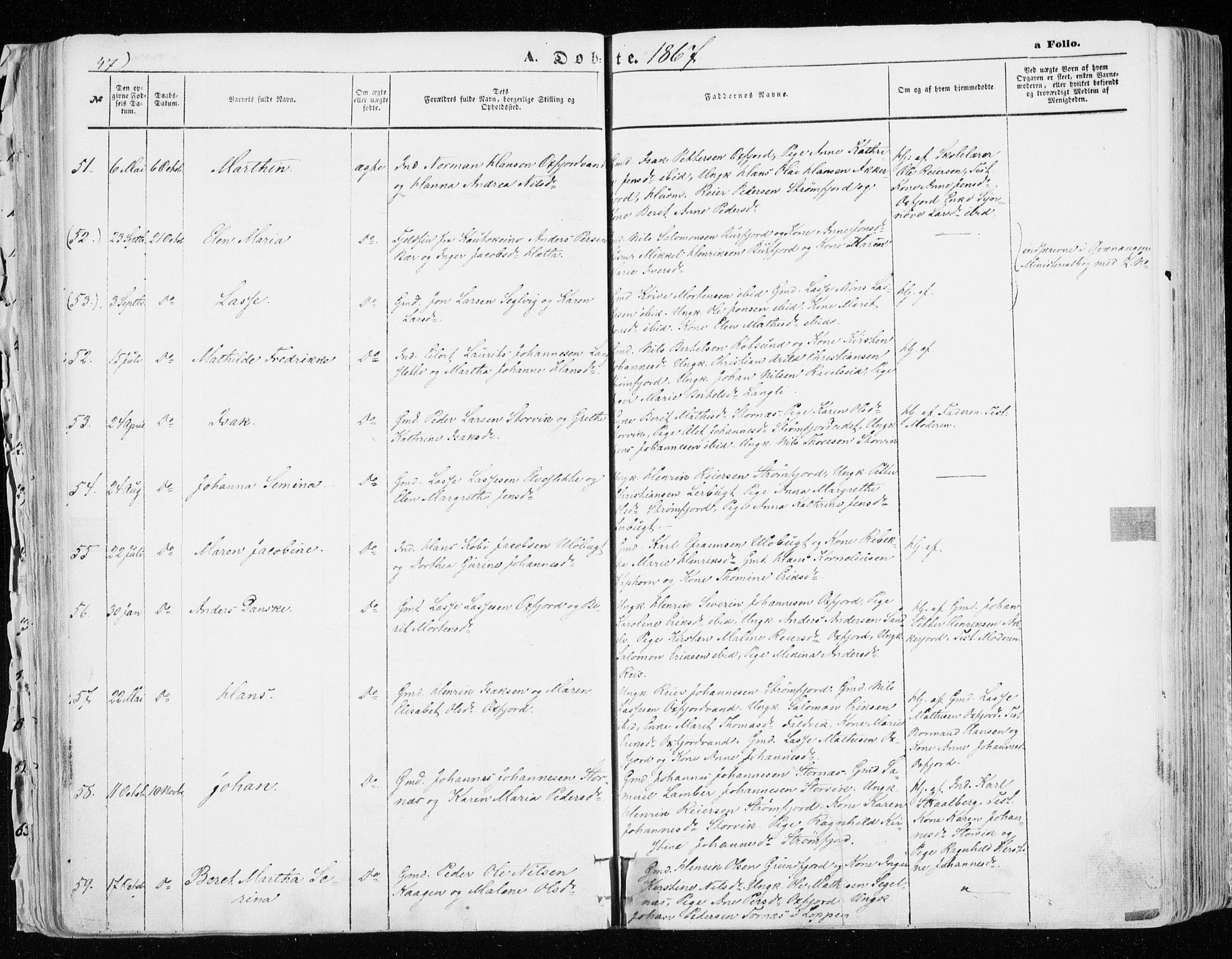 SATØ, Skjervøy sokneprestkontor, H/Ha/Haa/L0007kirke: Ministerialbok nr. 7, 1860-1870, s. 47
