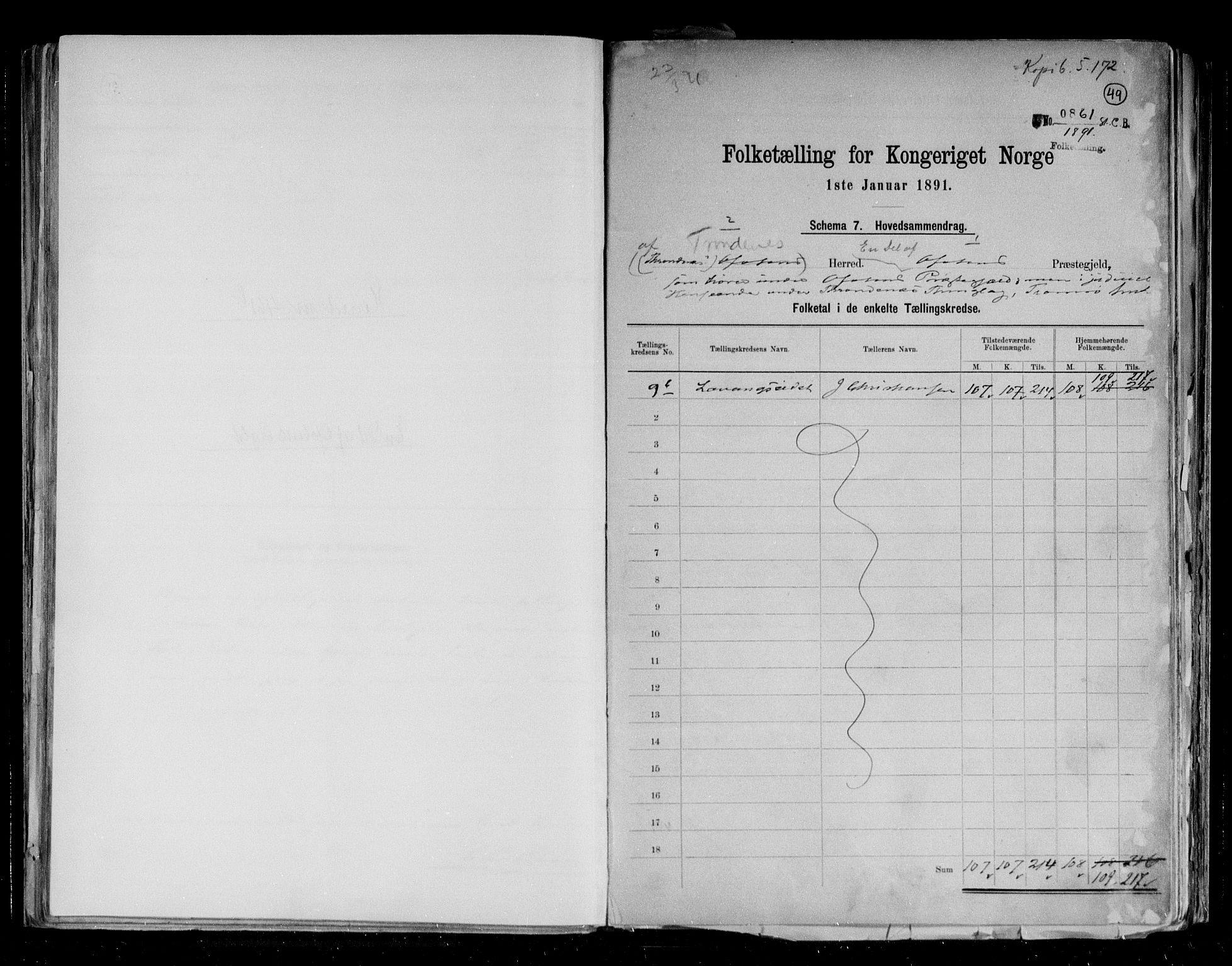RA, Folketelling 1891 for 1914 Trondenes herred, 1891, s. 34