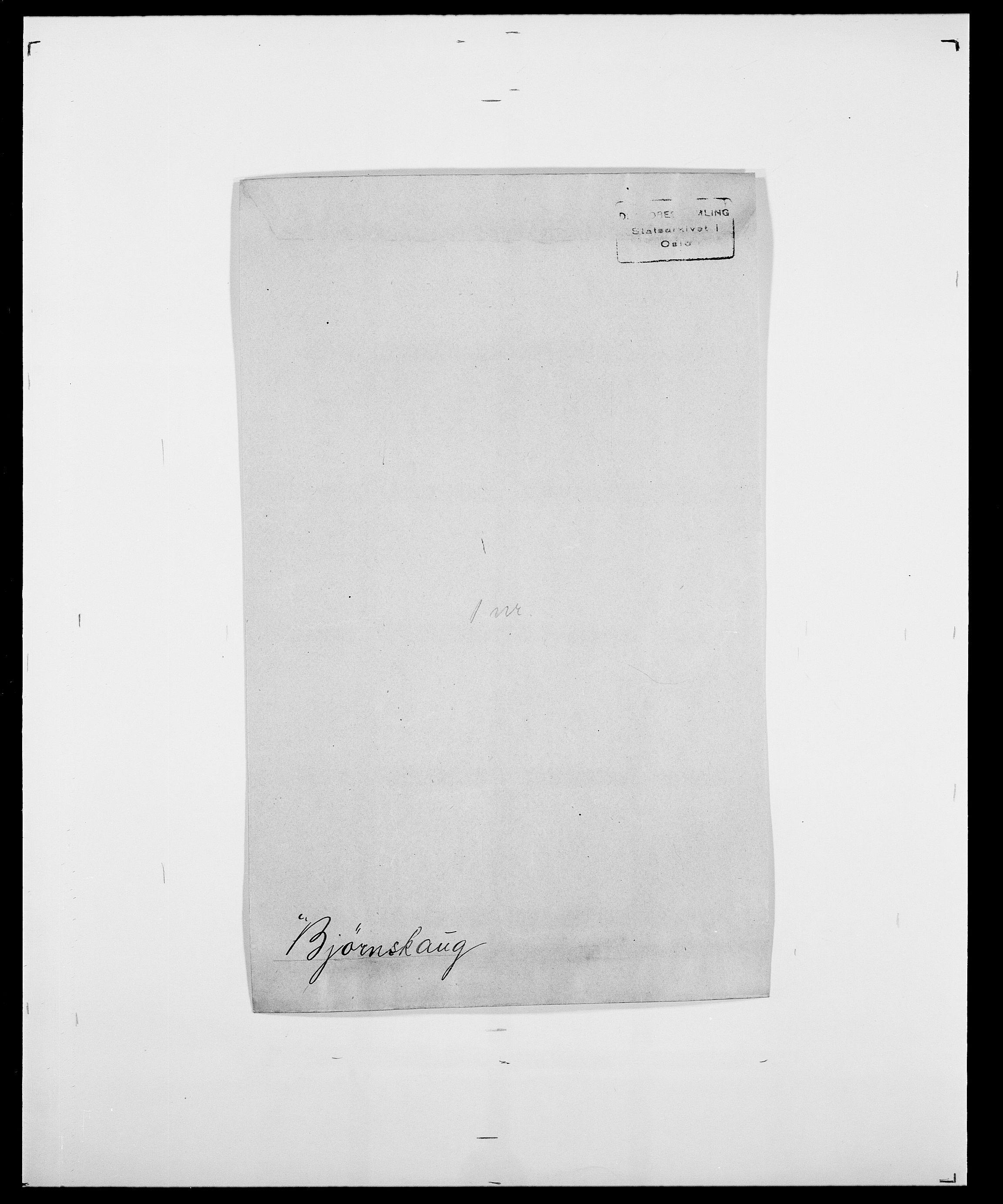 SAO, Delgobe, Charles Antoine - samling, D/Da/L0004: Bergendahl - Blære, s. 476