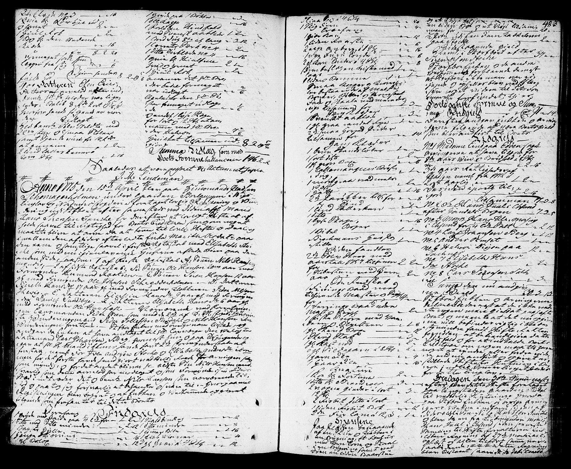 SAT, Nordmøre sorenskriveri, 3/3A/L0016: Skifteprotokoll nr. 14, 1772-1776, s. 482b-483a