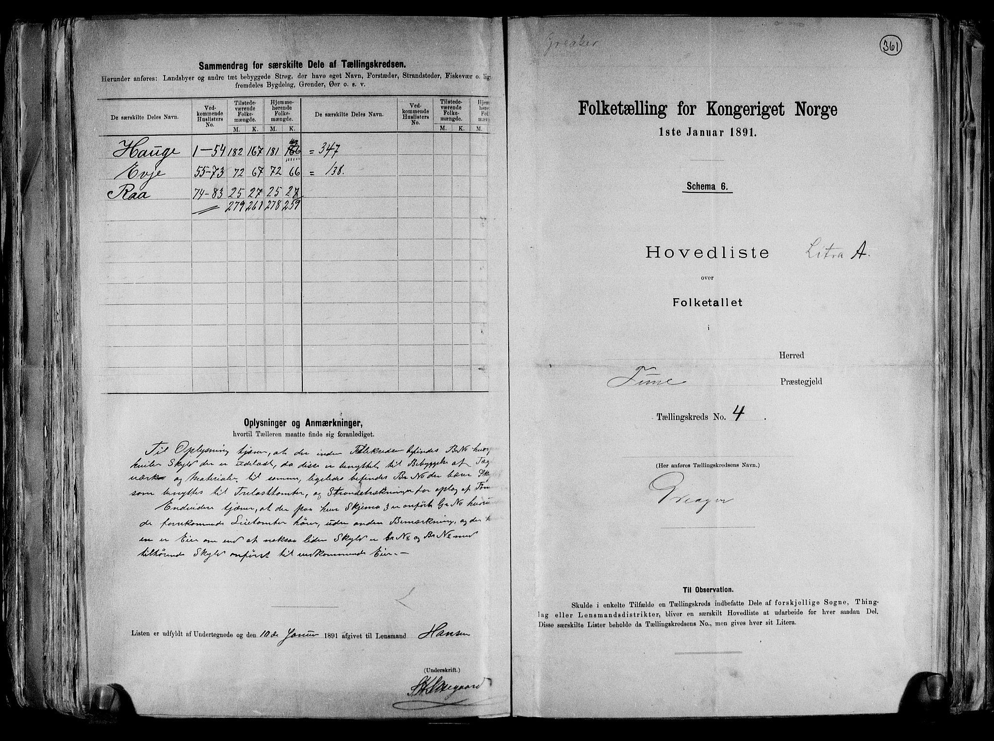 RA, Folketelling 1891 for 0130 Tune herred, 1891, s. 19