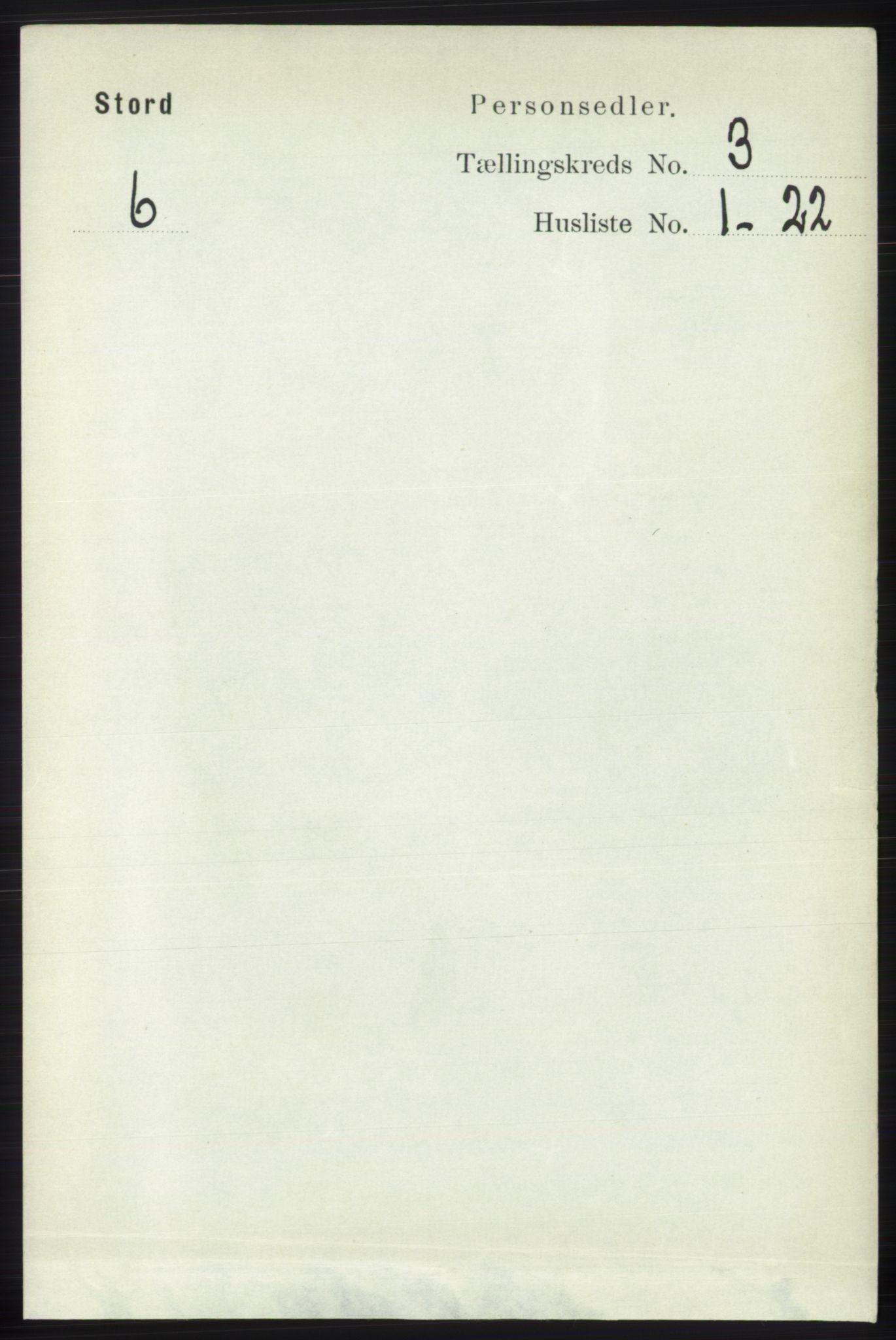 RA, Folketelling 1891 for 1221 Stord herred, 1891, s. 532