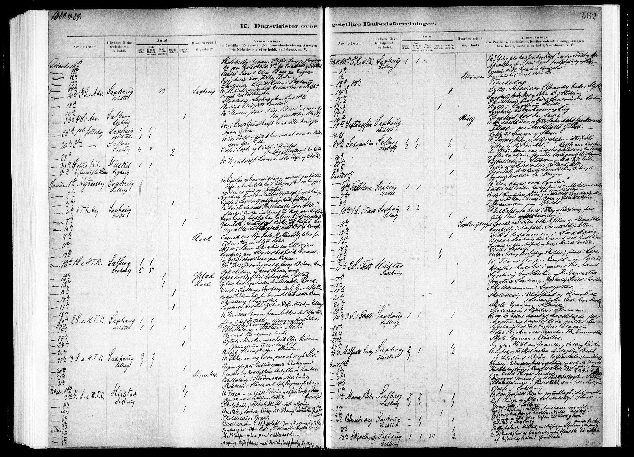 SAT, Ministerialprotokoller, klokkerbøker og fødselsregistre - Nord-Trøndelag, 730/L0285: Ministerialbok nr. 730A10, 1879-1914, s. 532
