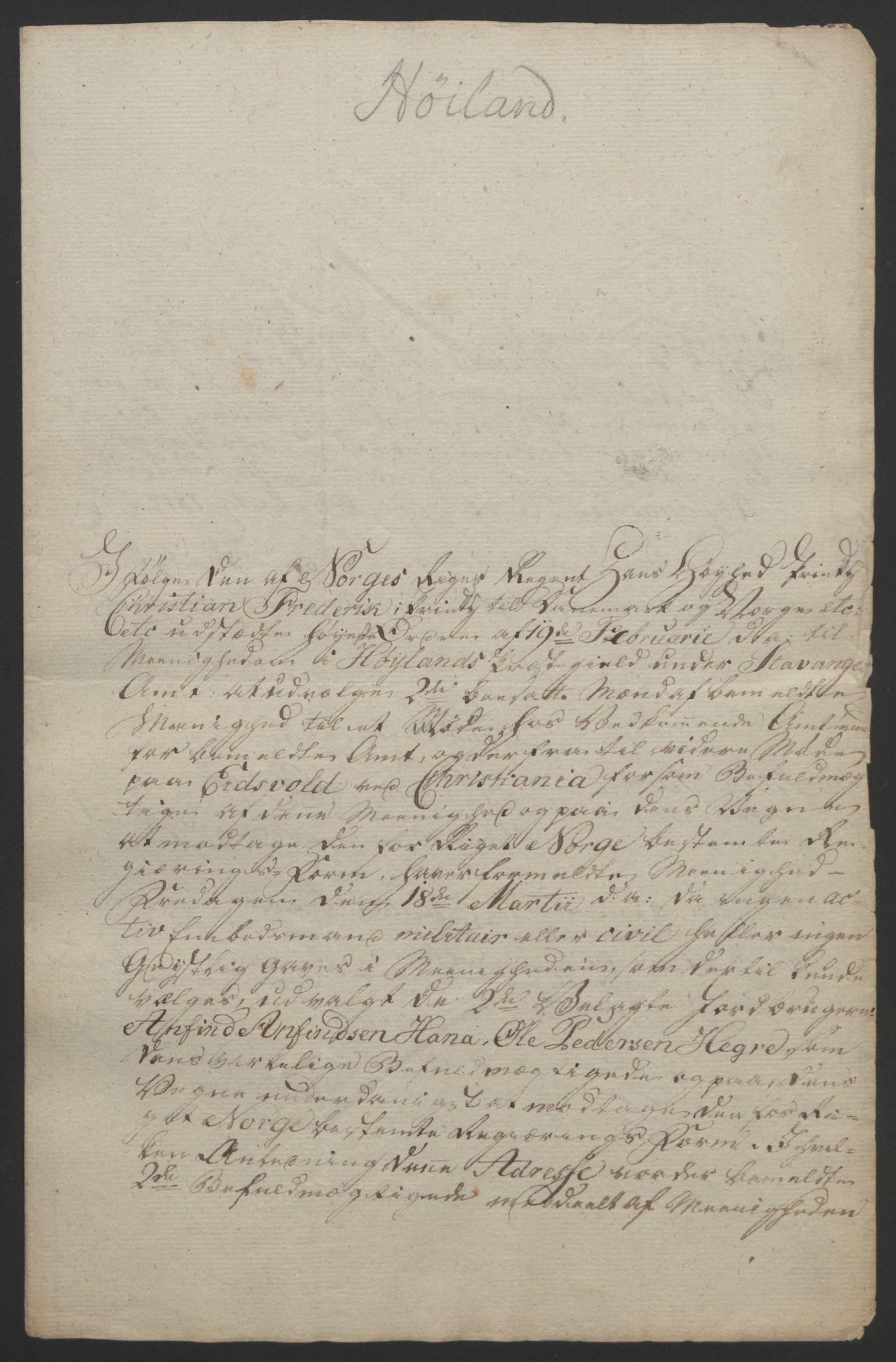 RA, Statsrådssekretariatet, D/Db/L0008: Fullmakter for Eidsvollsrepresentantene i 1814. , 1814, s. 229