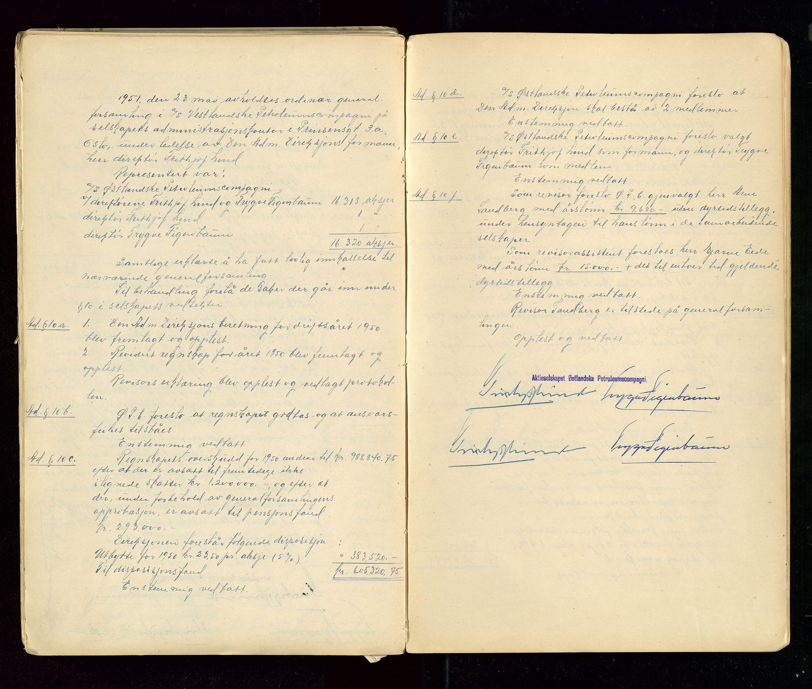 SAST, PA 1533 - A/S Vestlandske Petroleumscompani, A/Aa/L0001: Generalforsamlinger og styreprotokoller, 1890-1953, s. 143