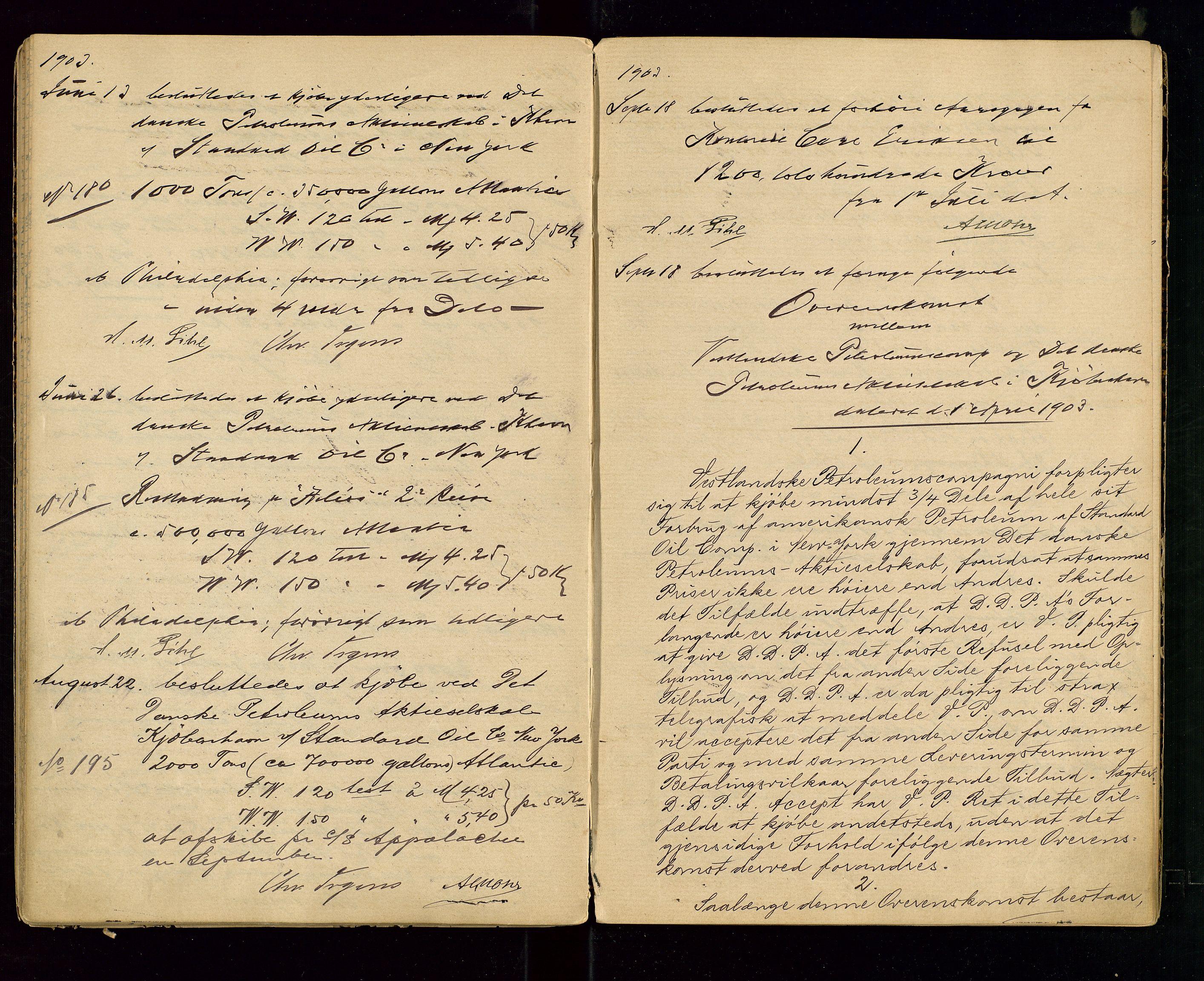 SAST, PA 1533 - A/S Vestlandske Petroleumscompani, A/Aa/L0001: Generalforsamlinger og styreprotokoller, 1890-1907, s. 47