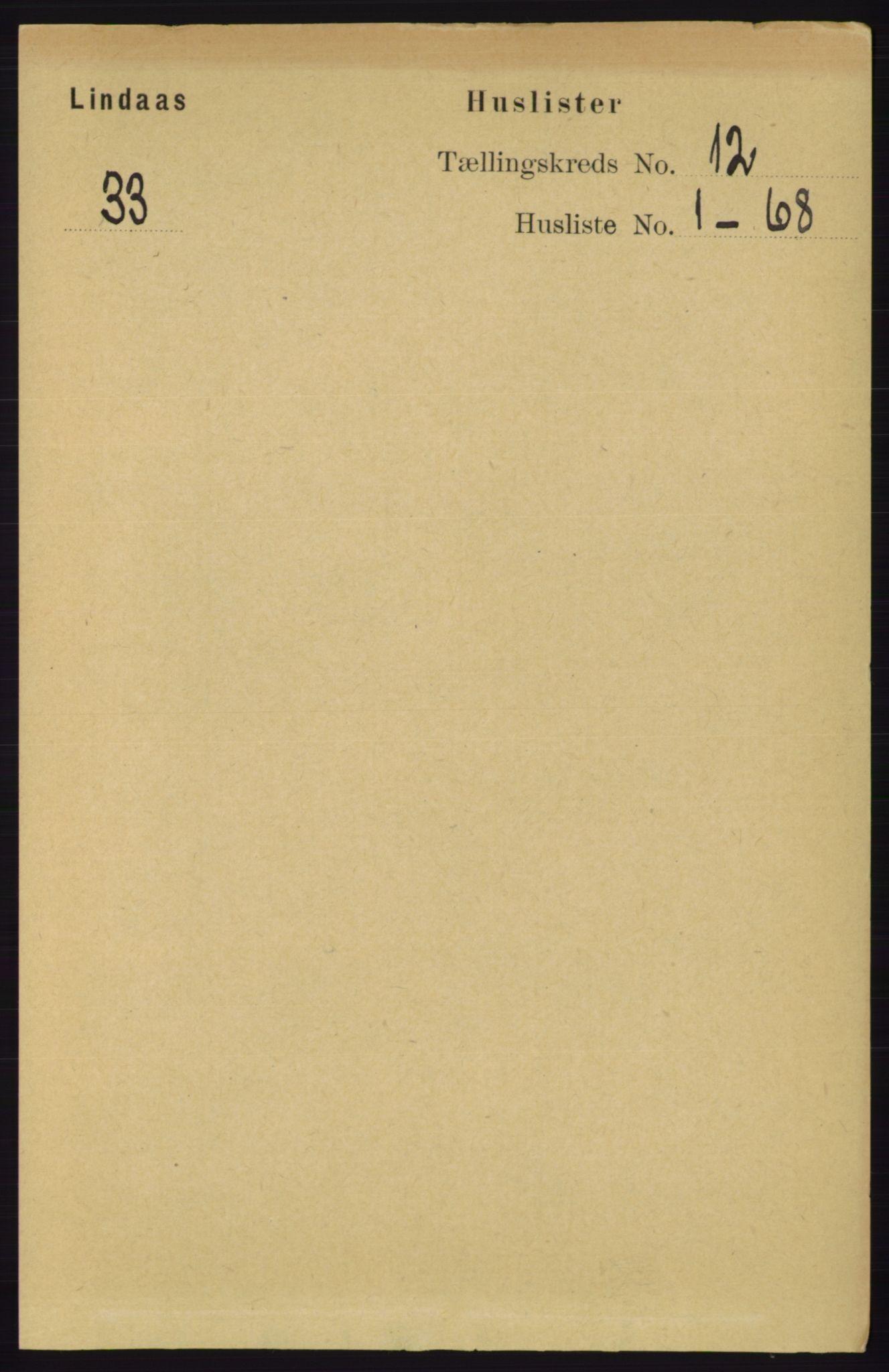 RA, Folketelling 1891 for 1263 Lindås herred, 1891, s. 3966