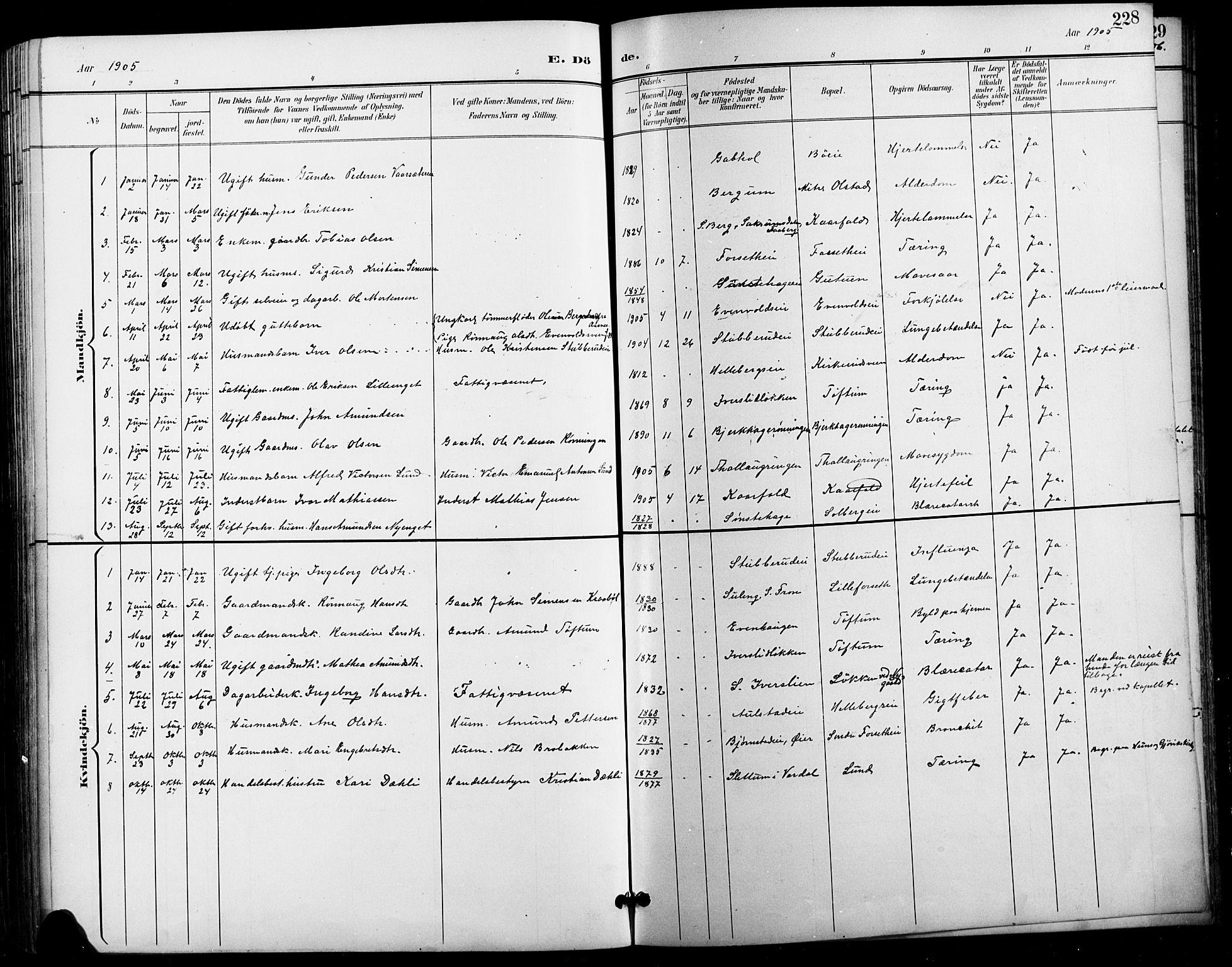 SAH, Vestre Gausdal prestekontor, Klokkerbok nr. 3, 1896-1925, s. 228