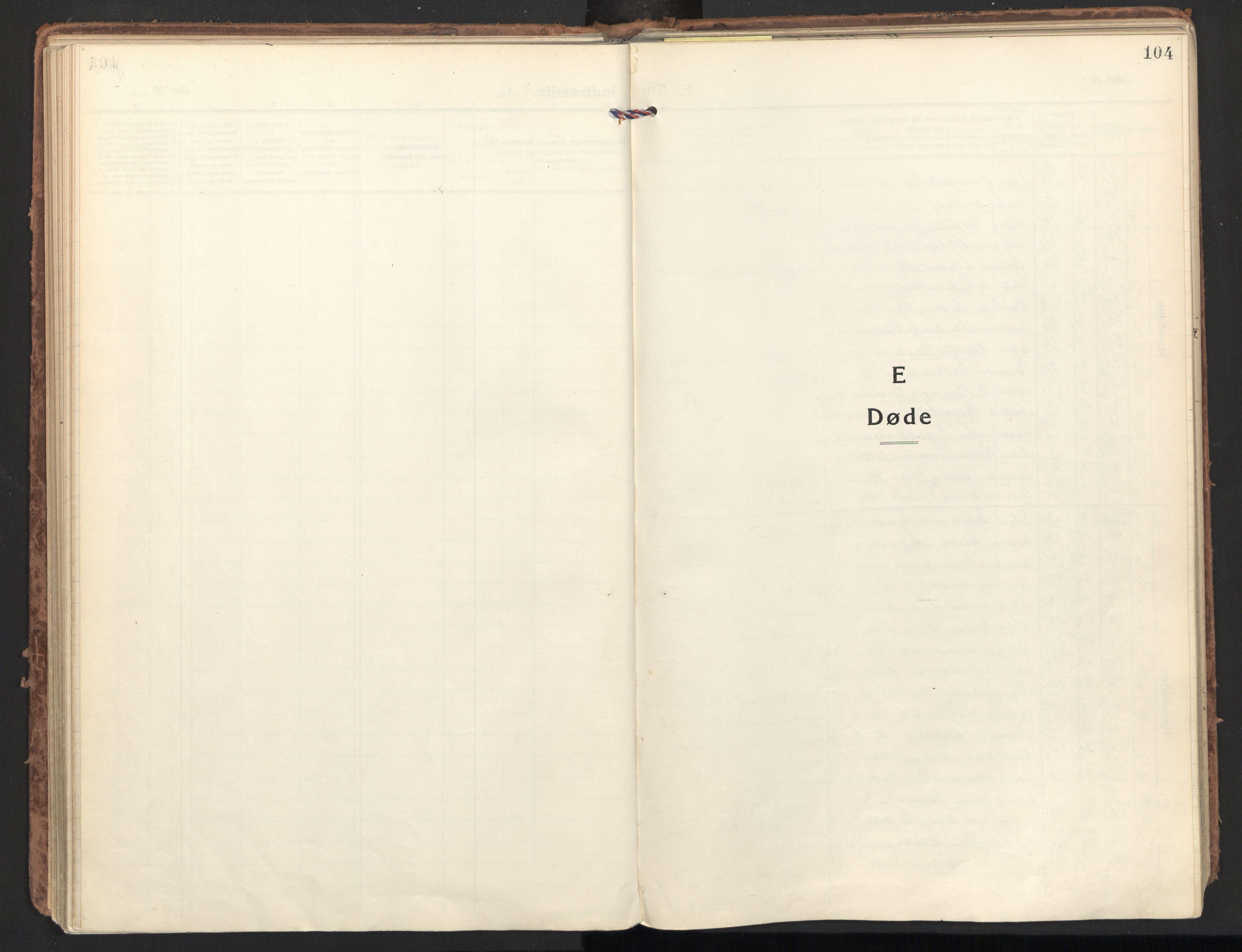 SAT, Ministerialprotokoller, klokkerbøker og fødselsregistre - Nordland, 801/L0018: Ministerialbok nr. 801A18, 1916-1930, s. 104