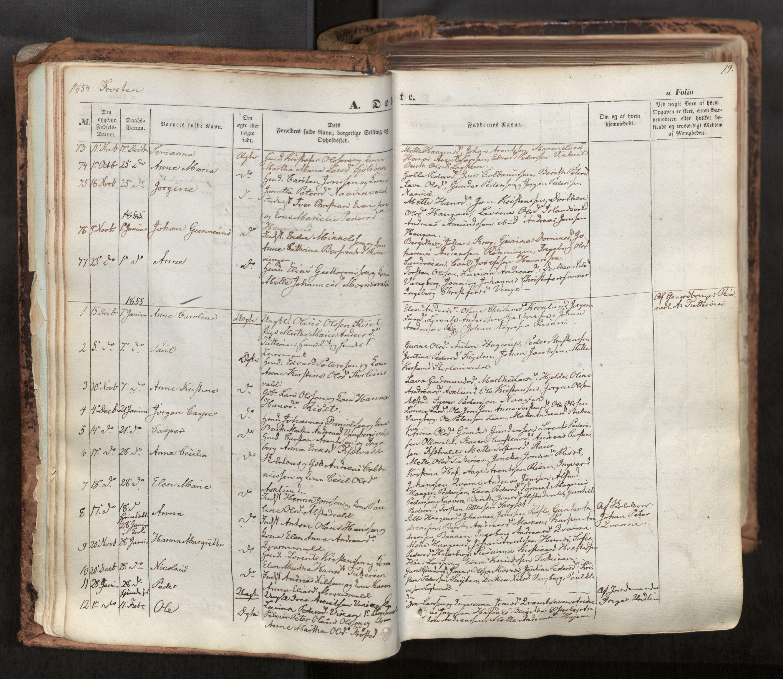 SAT, Ministerialprotokoller, klokkerbøker og fødselsregistre - Nord-Trøndelag, 713/L0116: Ministerialbok nr. 713A07, 1850-1877, s. 19