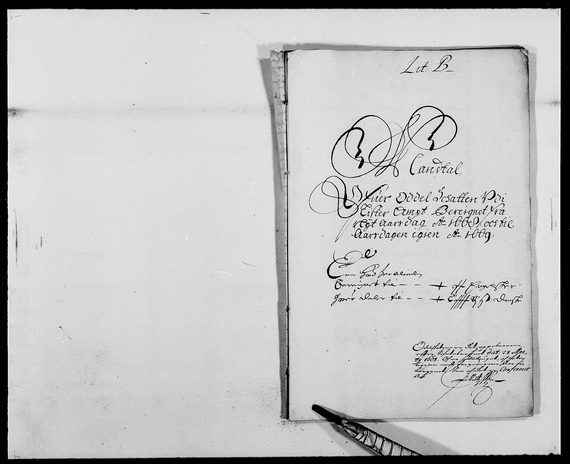 RA, Rentekammeret inntil 1814, Reviderte regnskaper, Fogderegnskap, R41/L2524: Fogderegnskap Lista, 1665-1668, s. 381