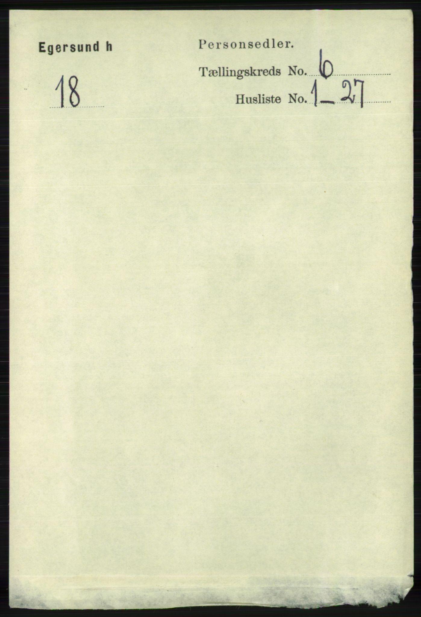 RA, Folketelling 1891 for 1116 Eigersund herred, 1891, s. 2273