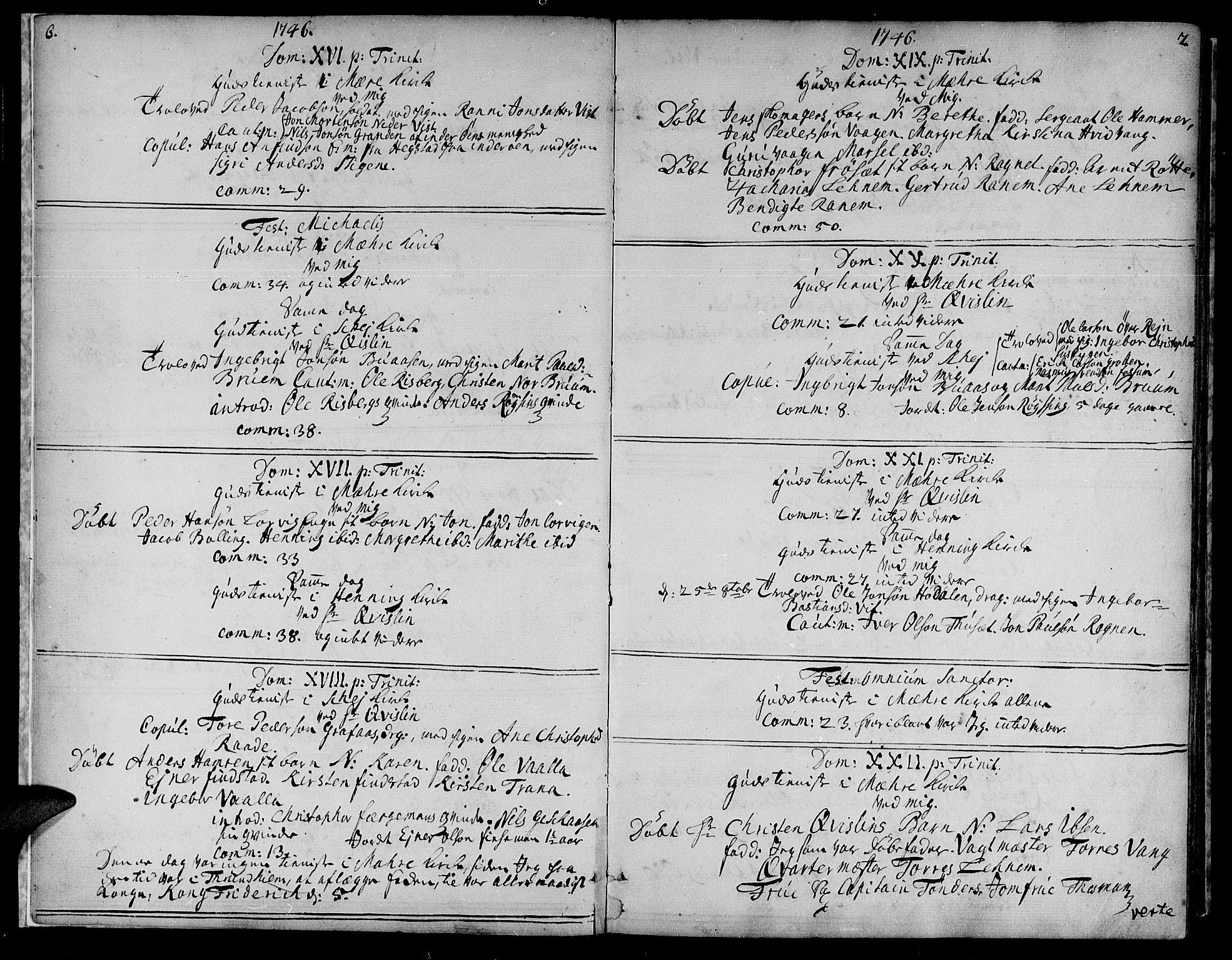 SAT, Ministerialprotokoller, klokkerbøker og fødselsregistre - Nord-Trøndelag, 735/L0330: Ministerialbok nr. 735A01, 1740-1766, s. 6-7