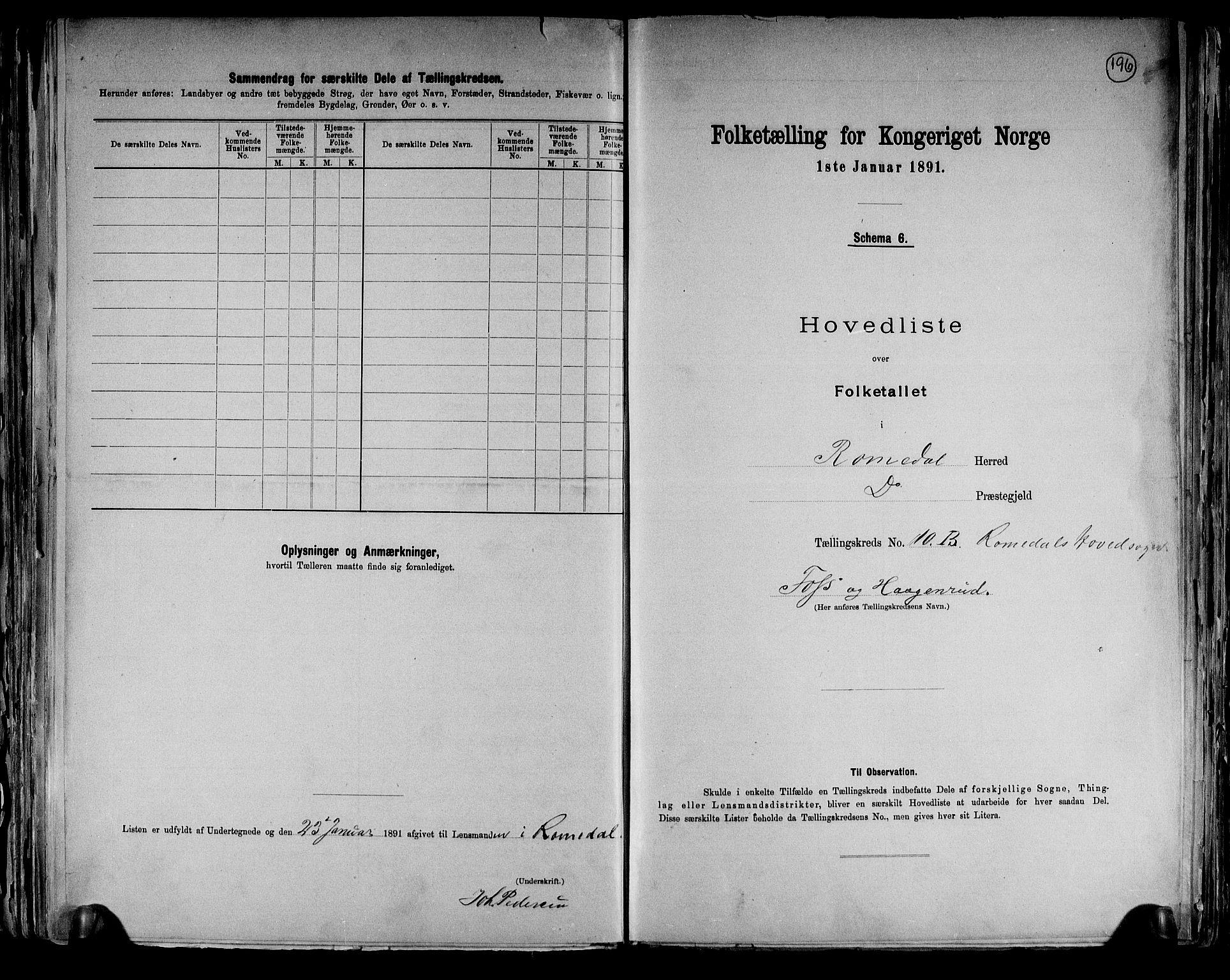 RA, Folketelling 1891 for 0416 Romedal herred, 1891, s. 25