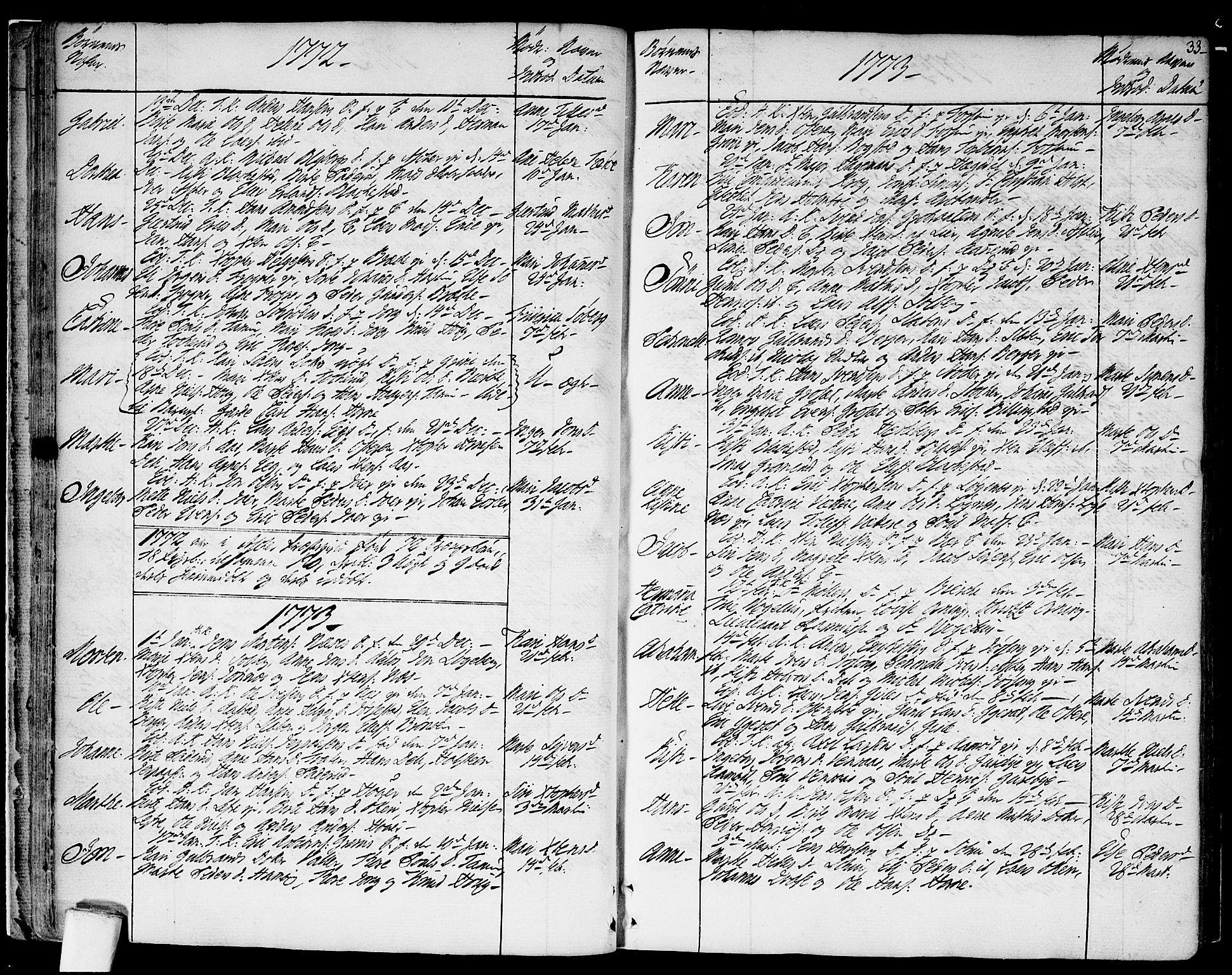 SAO, Asker prestekontor Kirkebøker, F/Fa/L0003: Ministerialbok nr. I 3, 1767-1807, s. 33