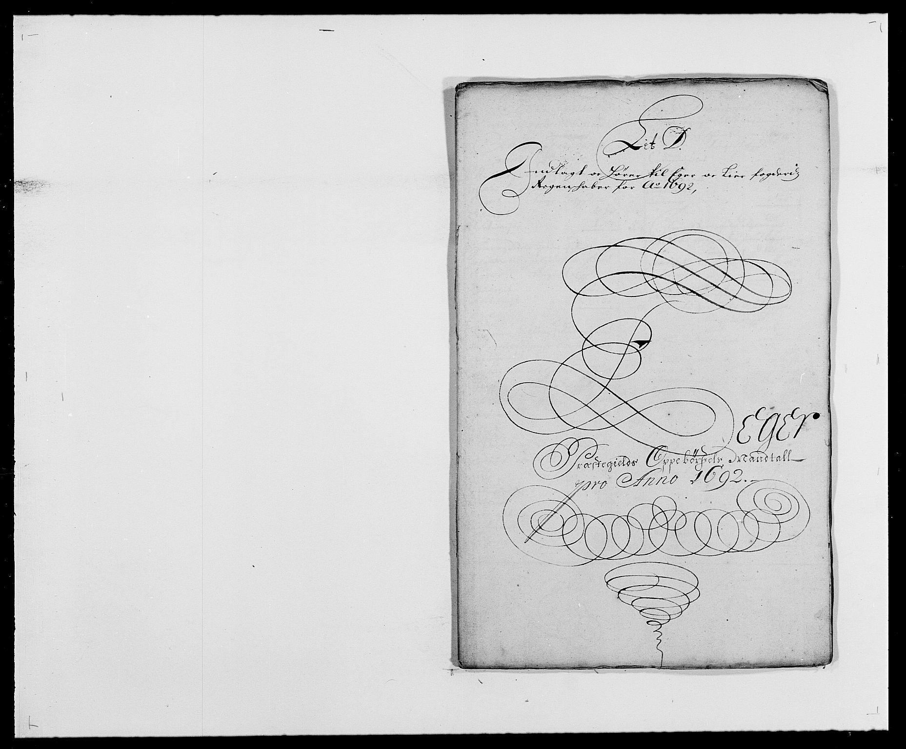 RA, Rentekammeret inntil 1814, Reviderte regnskaper, Fogderegnskap, R28/L1690: Fogderegnskap Eiker og Lier, 1692-1693, s. 27