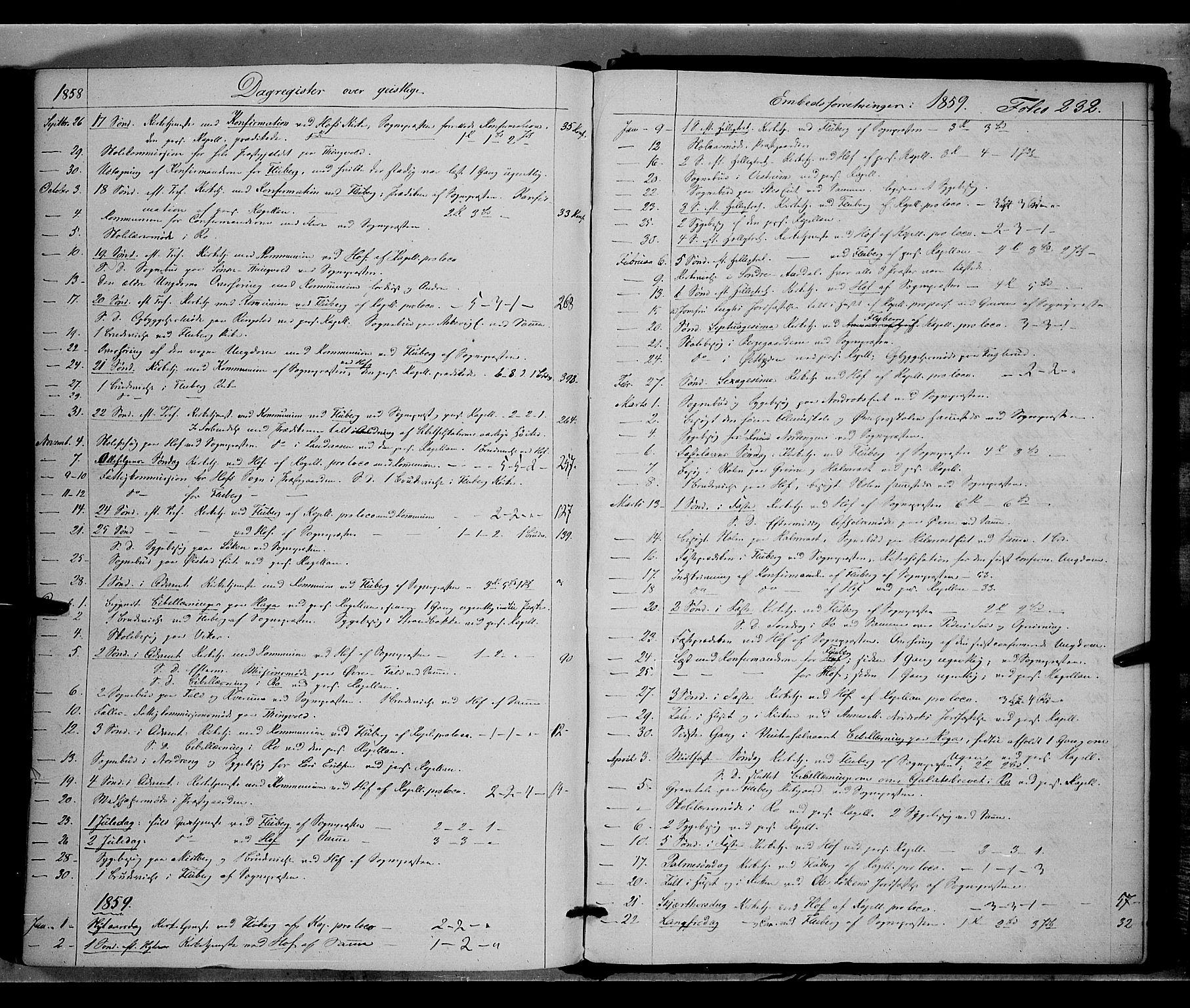 SAH, Land prestekontor, Ministerialbok nr. 9, 1847-1859, s. 232