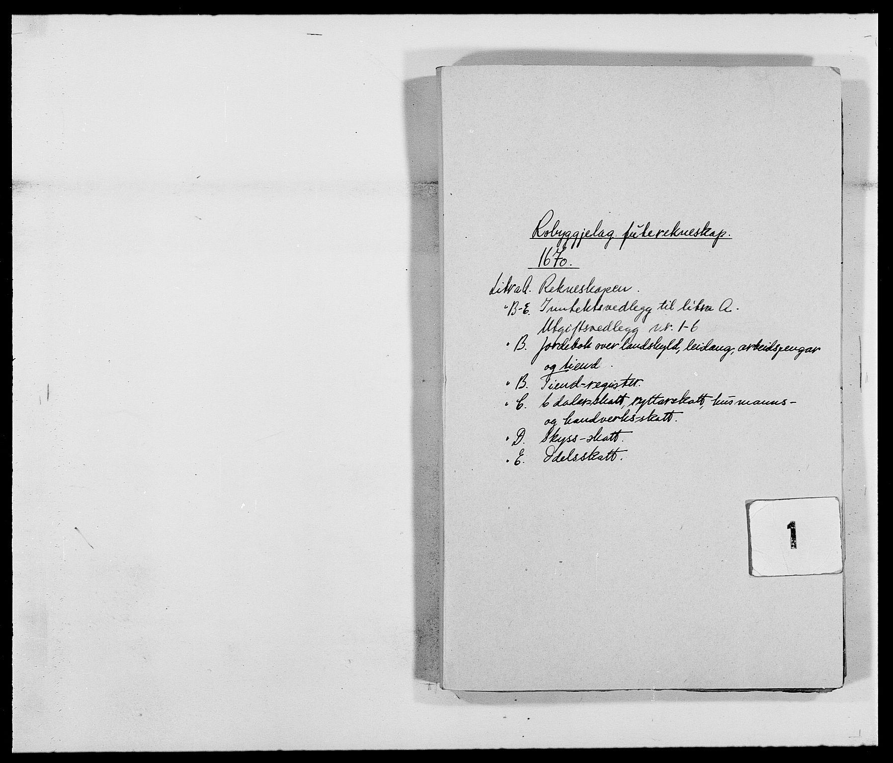RA, Rentekammeret inntil 1814, Reviderte regnskaper, Fogderegnskap, R40/L2432: Fogderegnskap Råbyggelag, 1669-1670, s. 117