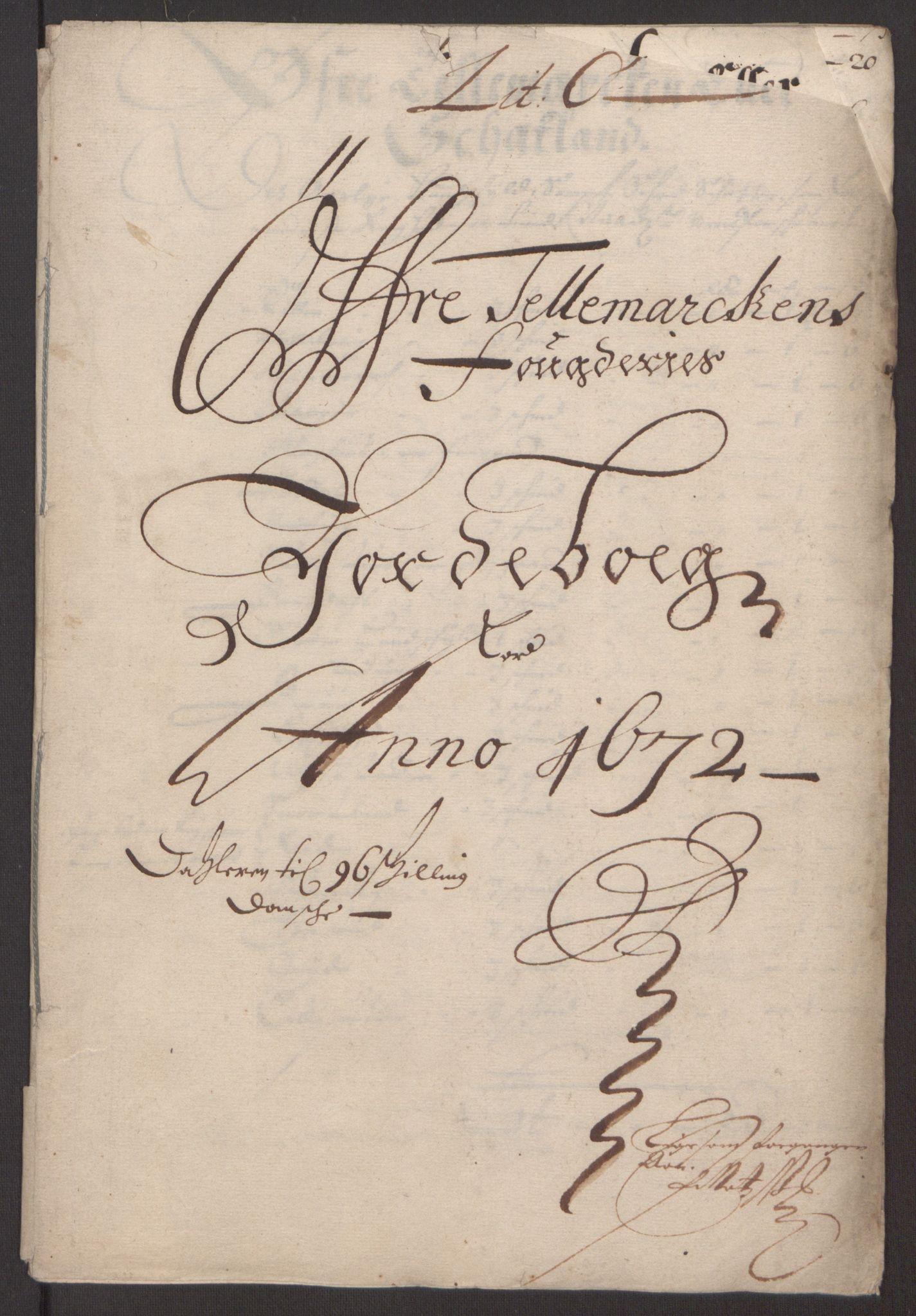 RA, Rentekammeret inntil 1814, Reviderte regnskaper, Fogderegnskap, R35/L2060: Fogderegnskap Øvre og Nedre Telemark, 1671-1672, s. 410