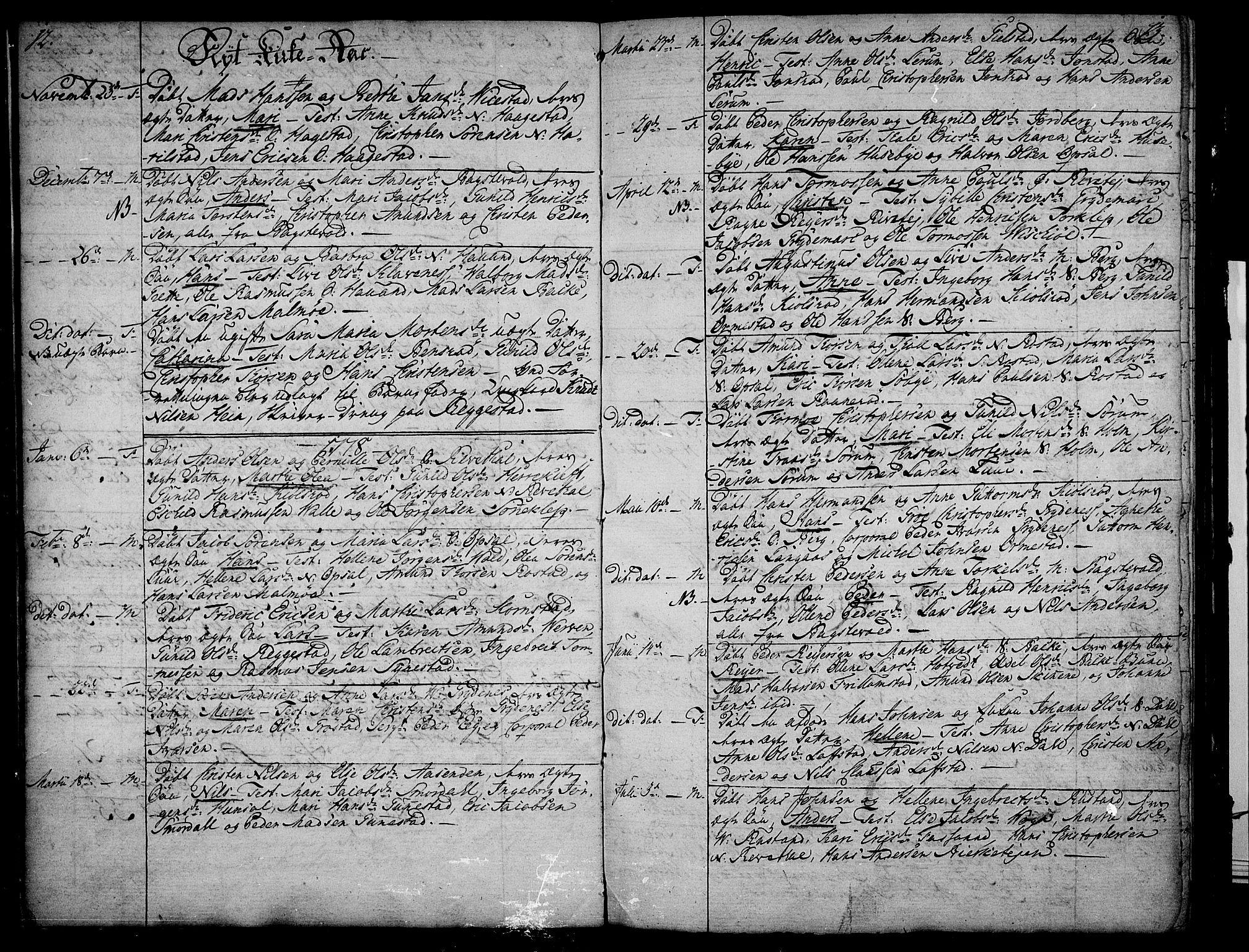 SAKO, Våle kirkebøker, F/Fa/L0005: Ministerialbok nr. I 5, 1773-1808, s. 12-13