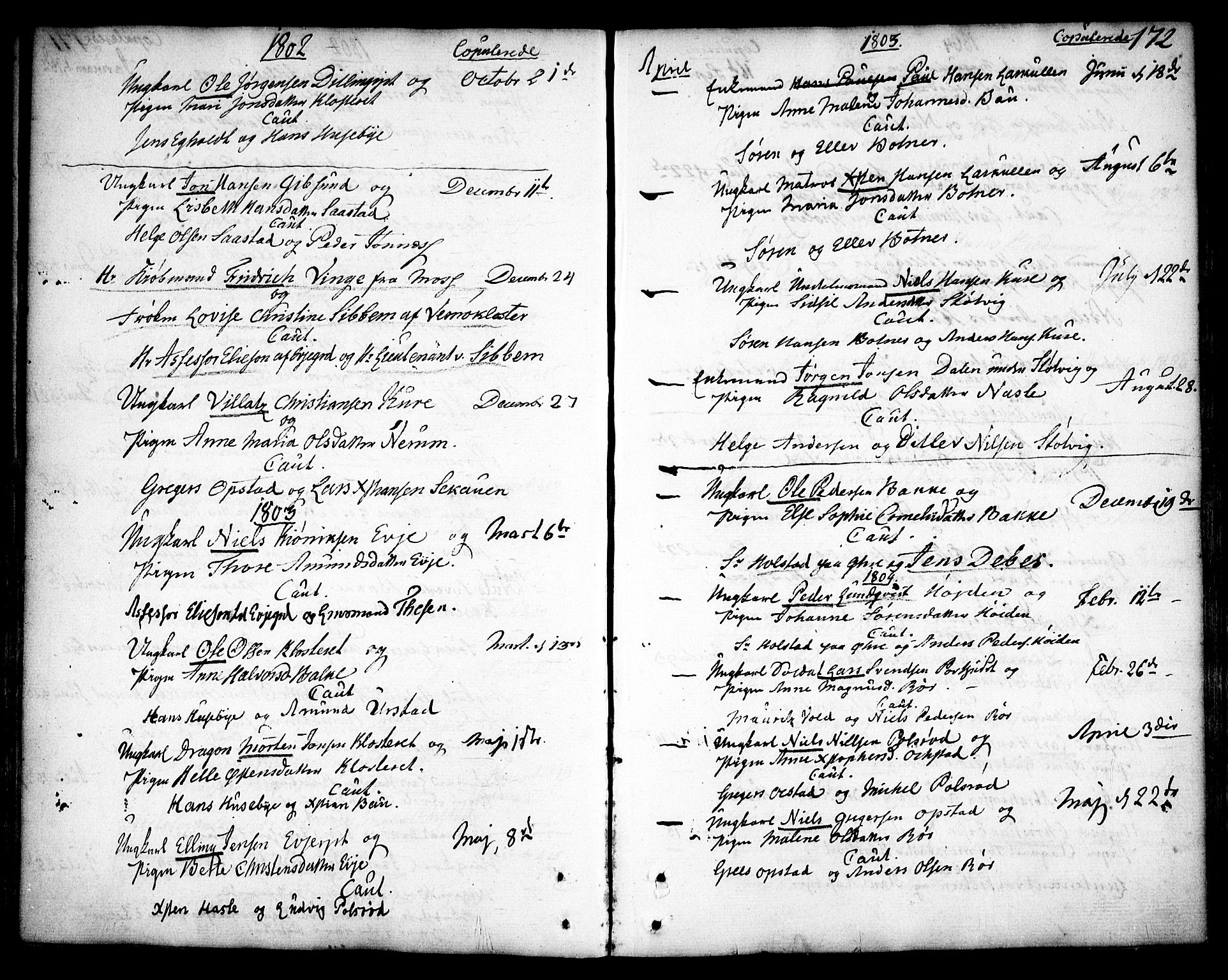 SAO, Rygge prestekontor Kirkebøker, F/Fa/L0002: Ministerialbok nr. 2, 1771-1814, s. 172