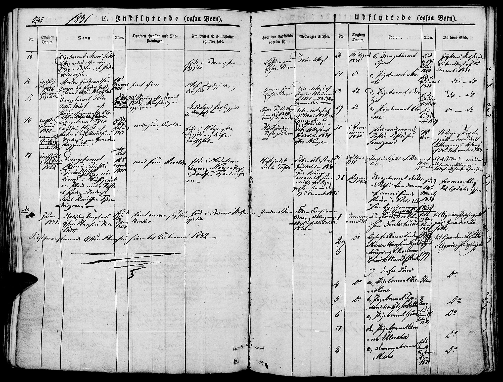 SAH, Lesja prestekontor, Ministerialbok nr. 5, 1830-1842, s. 545