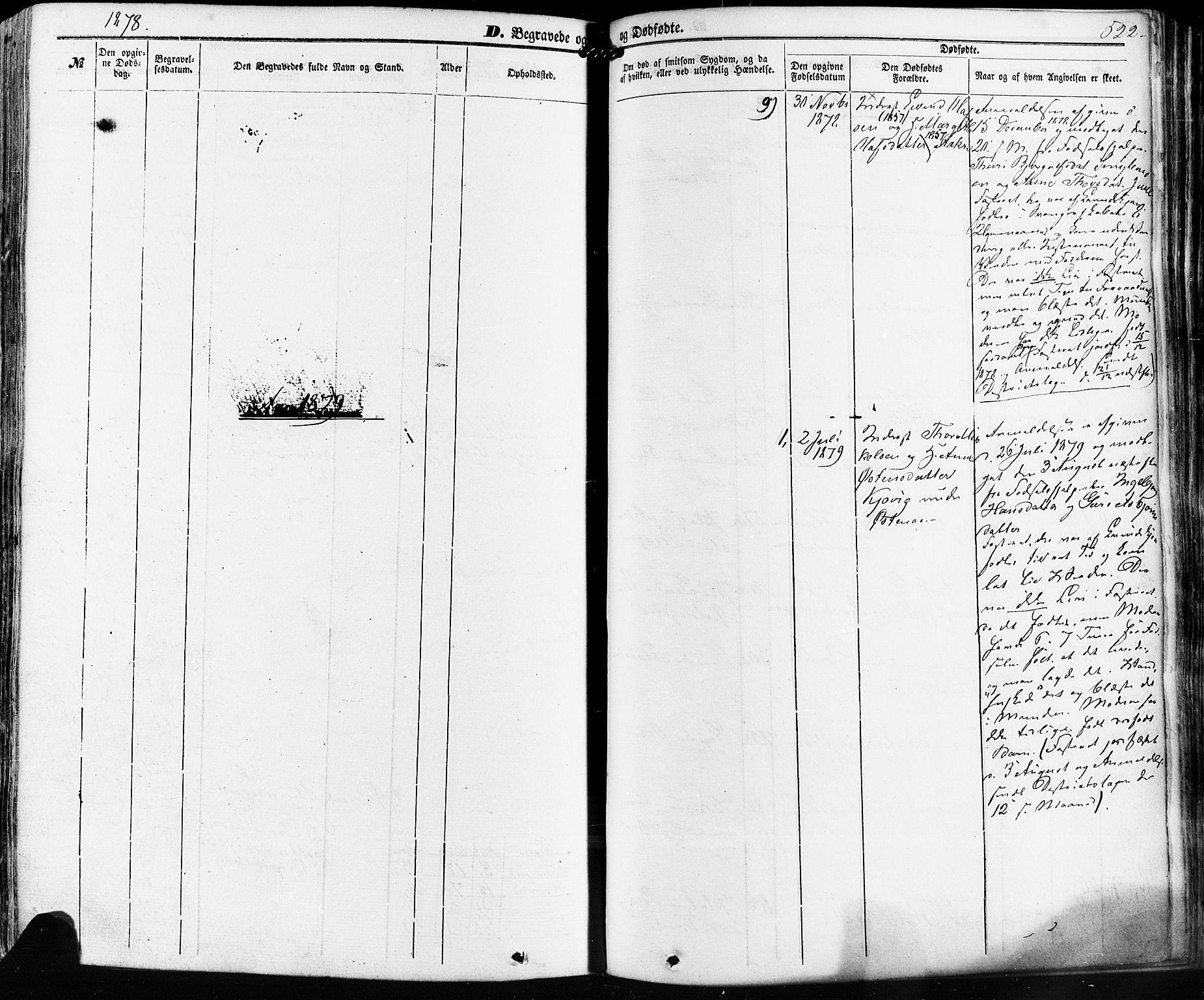 SAKO, Kviteseid kirkebøker, F/Fa/L0007: Ministerialbok nr. I 7, 1859-1881, s. 522