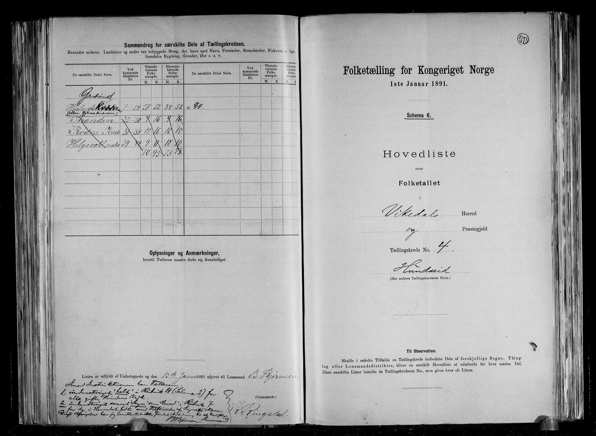 RA, Folketelling 1891 for 1157 Vikedal herred, 1891, s. 11