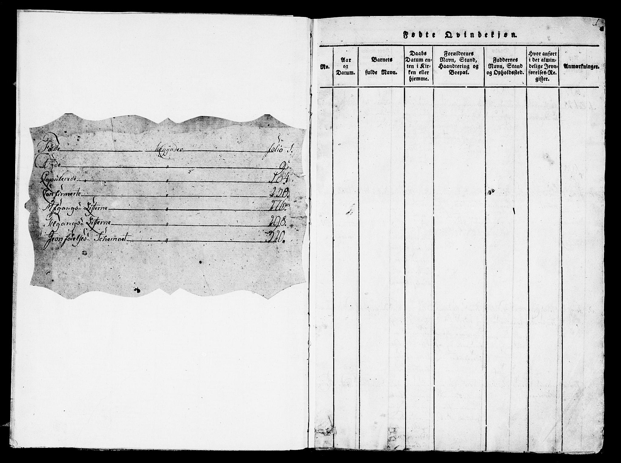 SAT, Ministerialprotokoller, klokkerbøker og fødselsregistre - Sør-Trøndelag, 657/L0702: Ministerialbok nr. 657A03, 1818-1831, s. 1