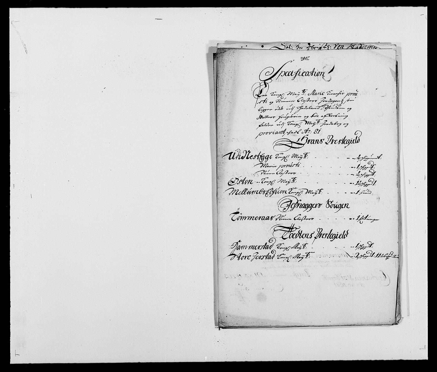 RA, Rentekammeret inntil 1814, Reviderte regnskaper, Fogderegnskap, R18/L1279: Fogderegnskap Hadeland, Toten og Valdres, 1681, s. 200