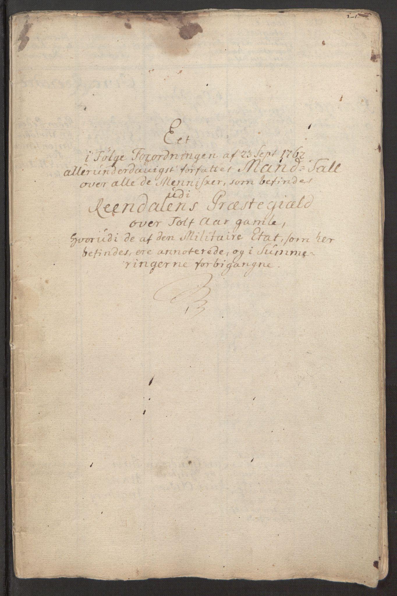 RA, Rentekammeret inntil 1814, Reviderte regnskaper, Fogderegnskap, R15/L1014: Ekstraskatten Østerdal, 1762-1764, s. 346