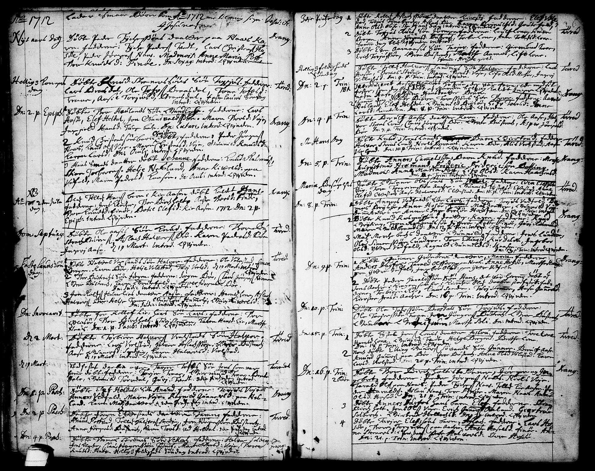 SAKO, Drangedal kirkebøker, F/Fa/L0001: Ministerialbok nr. 1, 1697-1767, s. 26
