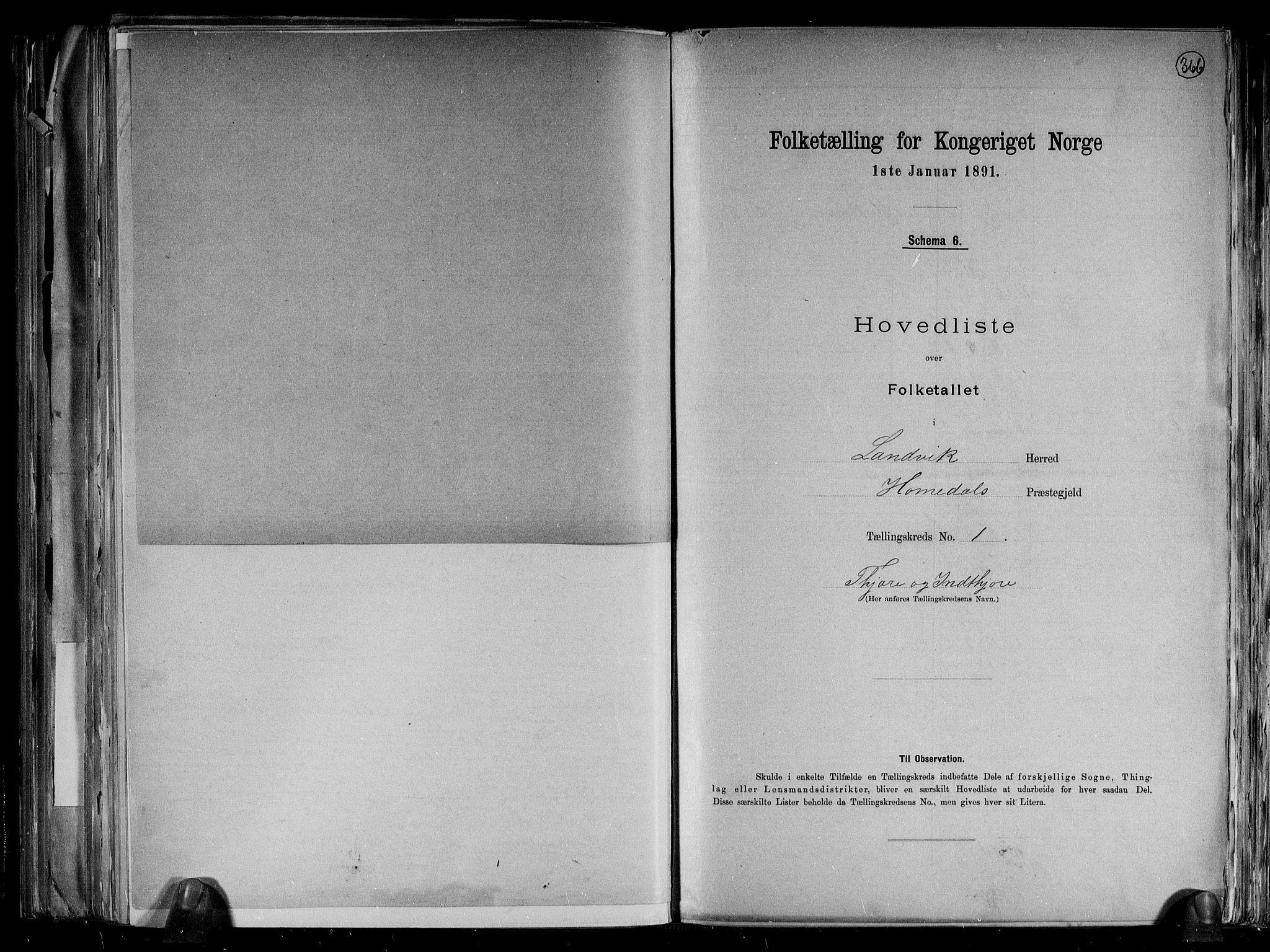 RA, Folketelling 1891 for 0924 Landvik herred, 1891, s. 5