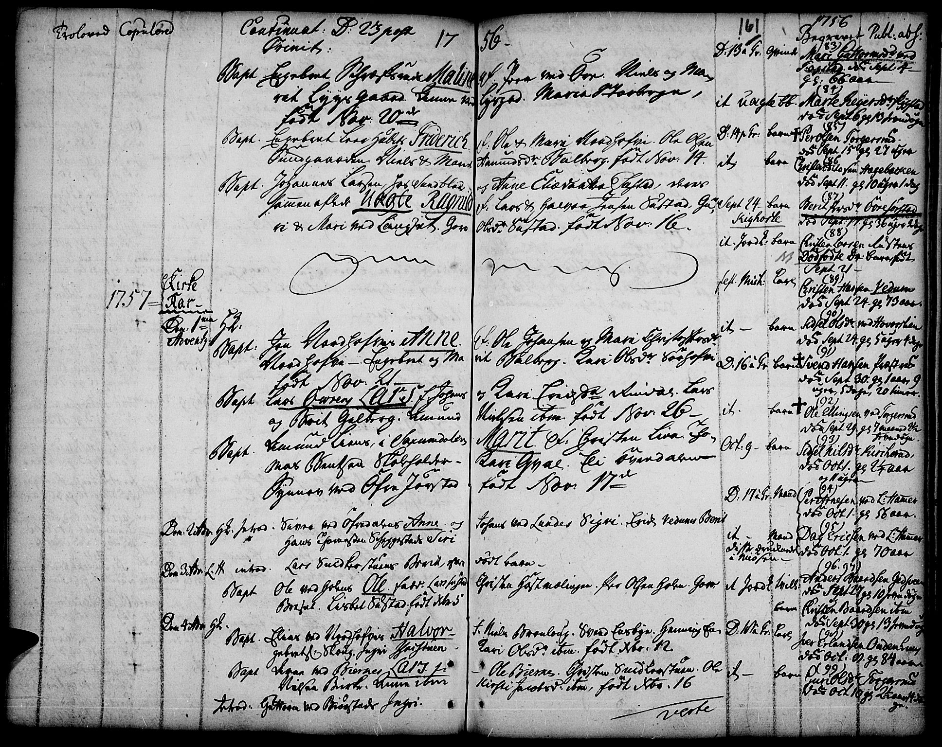 SAH, Fåberg prestekontor, Ministerialbok nr. 1, 1727-1775, s. 161