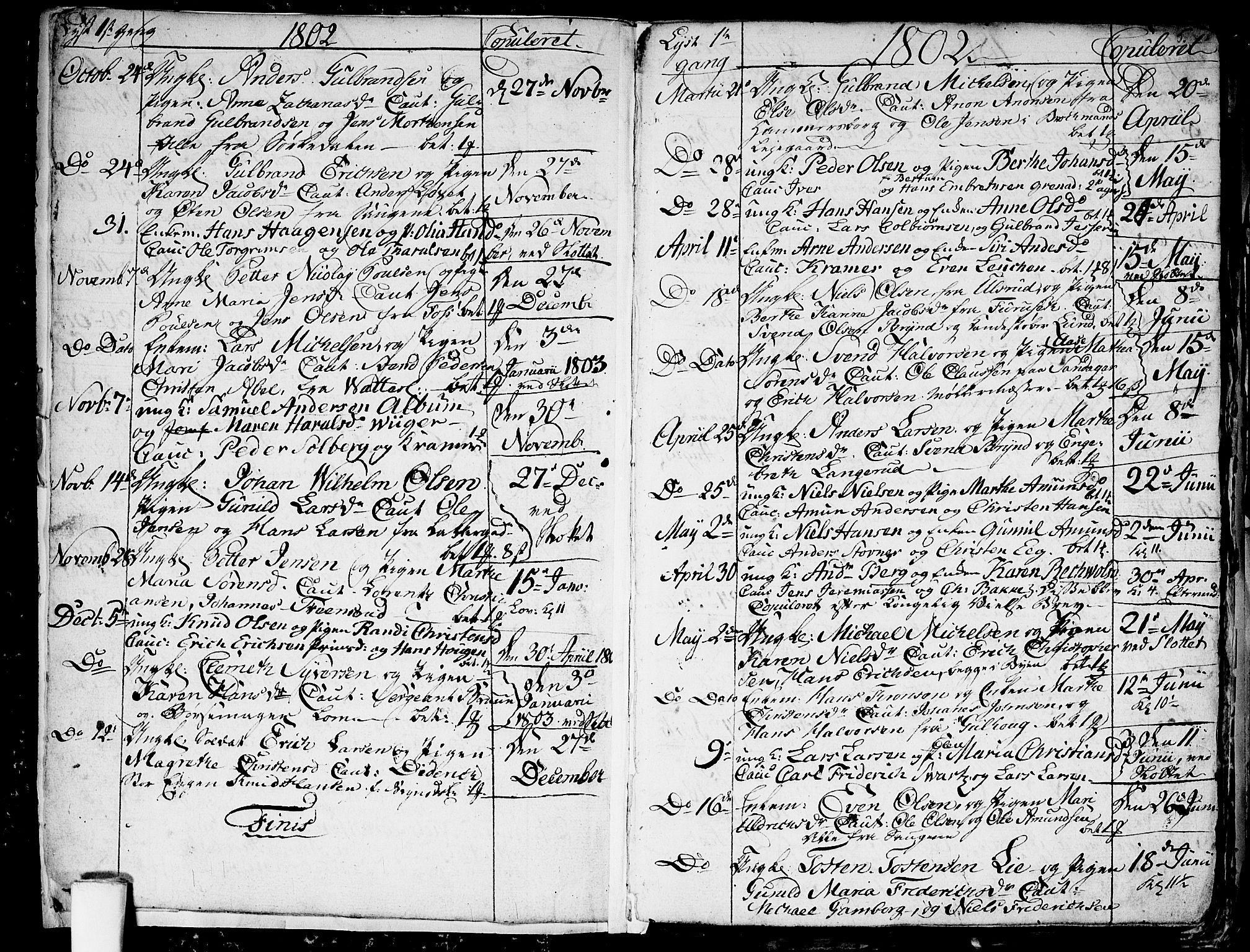 SAO, Aker prestekontor kirkebøker, G/L0001: Klokkerbok nr. 1, 1796-1826, s. 4-5