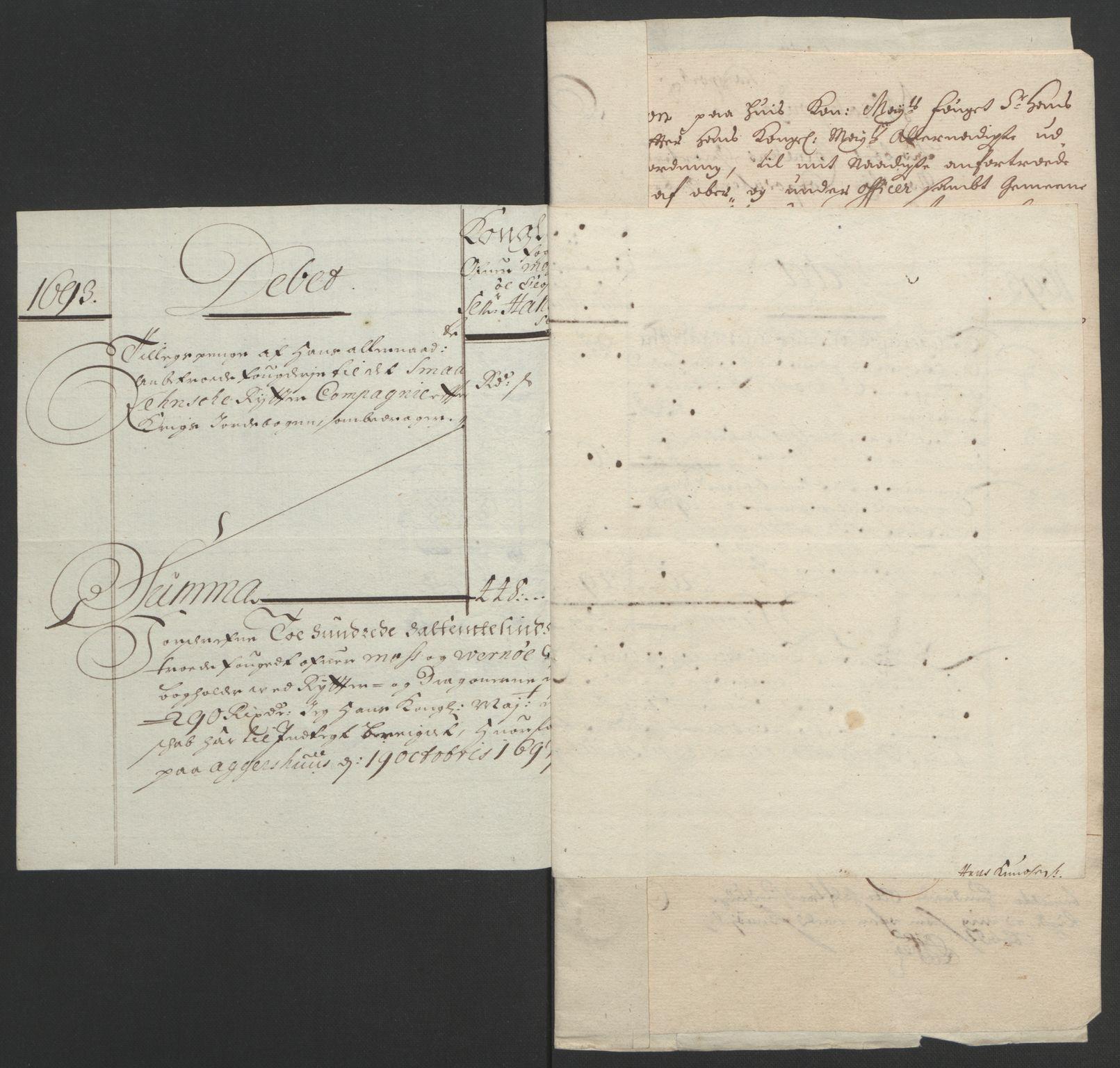 RA, Rentekammeret inntil 1814, Reviderte regnskaper, Fogderegnskap, R02/L0108: Fogderegnskap Moss og Verne kloster, 1692-1693, s. 366