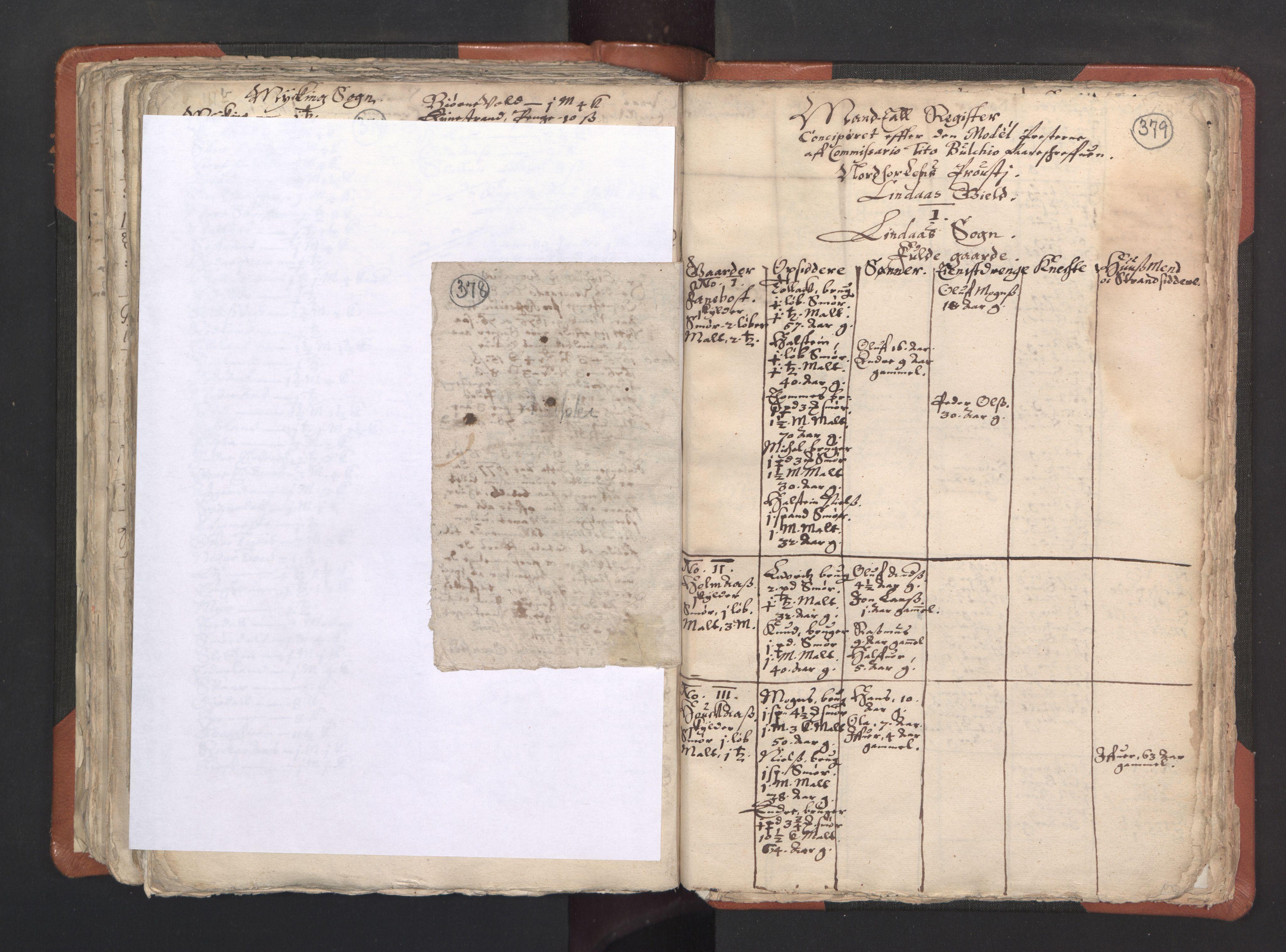 RA, Sogneprestenes manntall 1664-1666, nr. 22: Nordhordland prosti, 1664-1666, s. 378-379