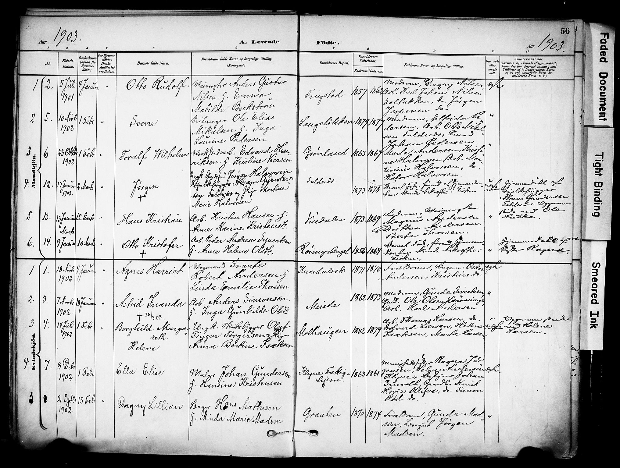 SAKO, Solum kirkebøker, F/Fa/L0011: Ministerialbok nr. I 11, 1898-1909, s. 56