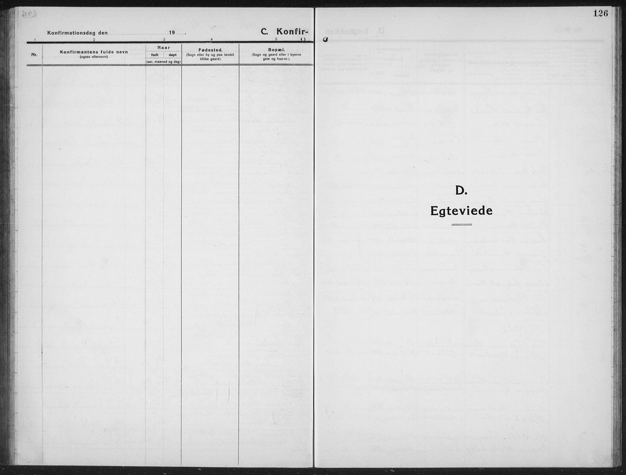 SAH, Ringebu prestekontor, Klokkerbok nr. 10, 1911-1934, s. 126