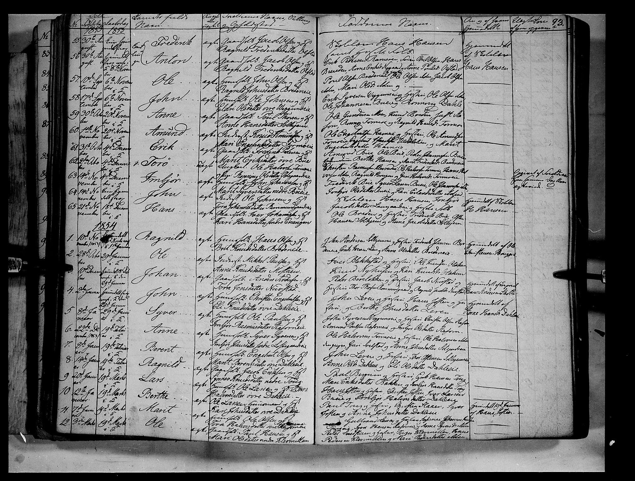 SAH, Vågå prestekontor, Ministerialbok nr. 5 /3, 1842-1856, s. 93