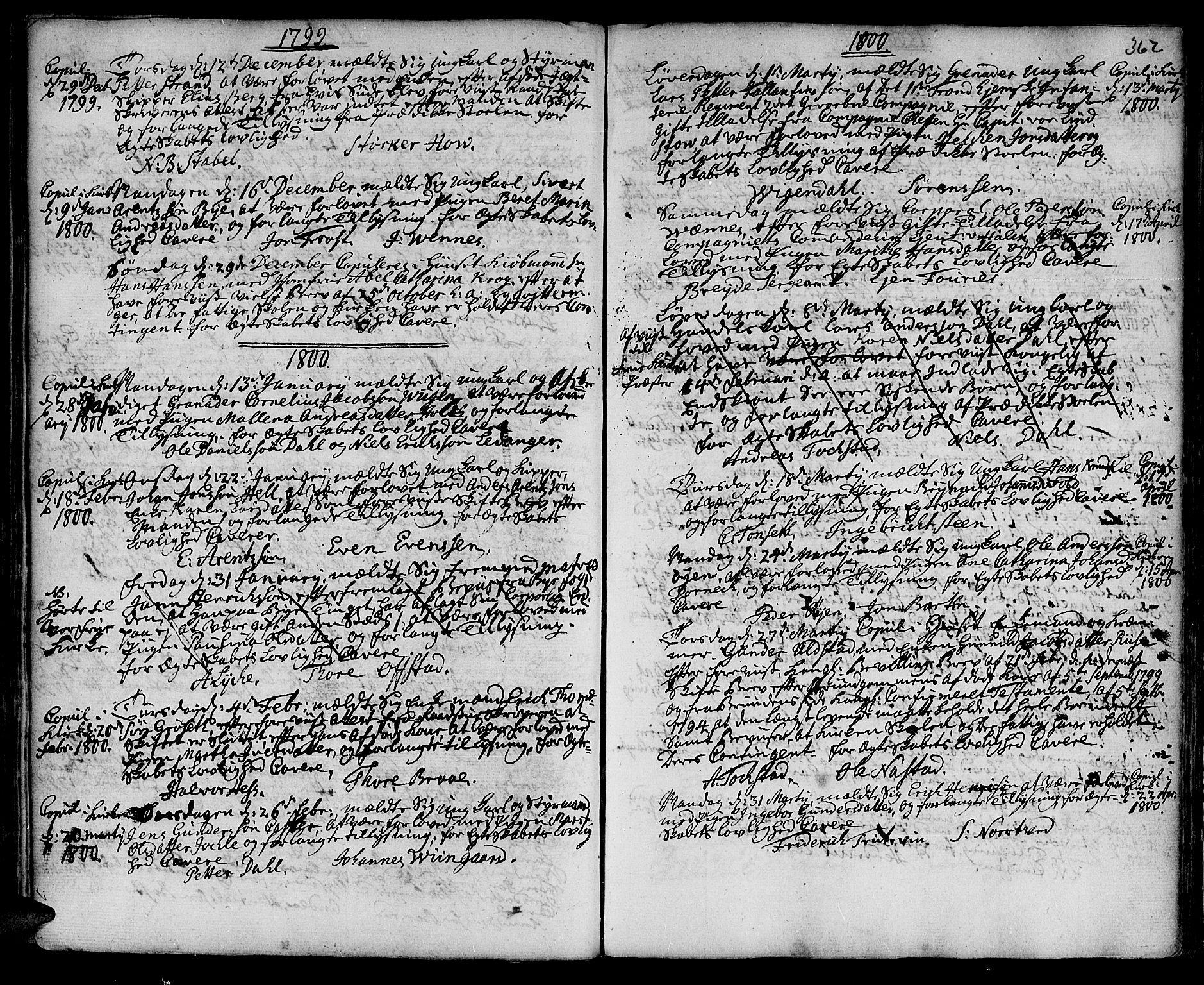 SAT, Ministerialprotokoller, klokkerbøker og fødselsregistre - Sør-Trøndelag, 601/L0038: Ministerialbok nr. 601A06, 1766-1877, s. 362