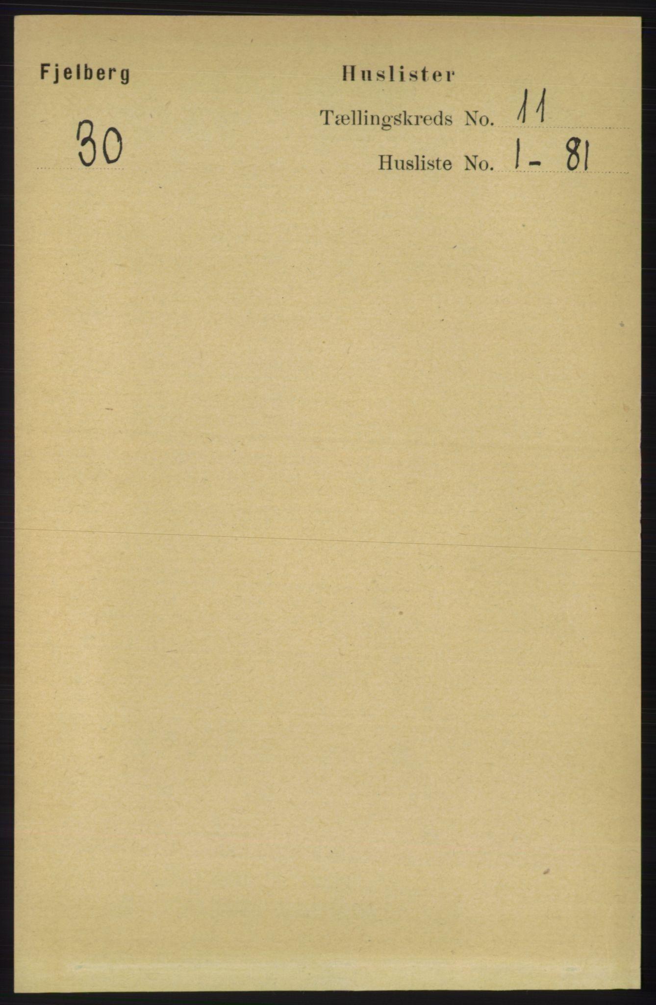 RA, Folketelling 1891 for 1213 Fjelberg herred, 1891, s. 4053